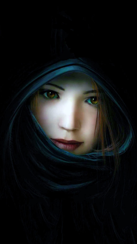 Beautiful 3d Girl with Black Background. best 3d iphone wallpaper