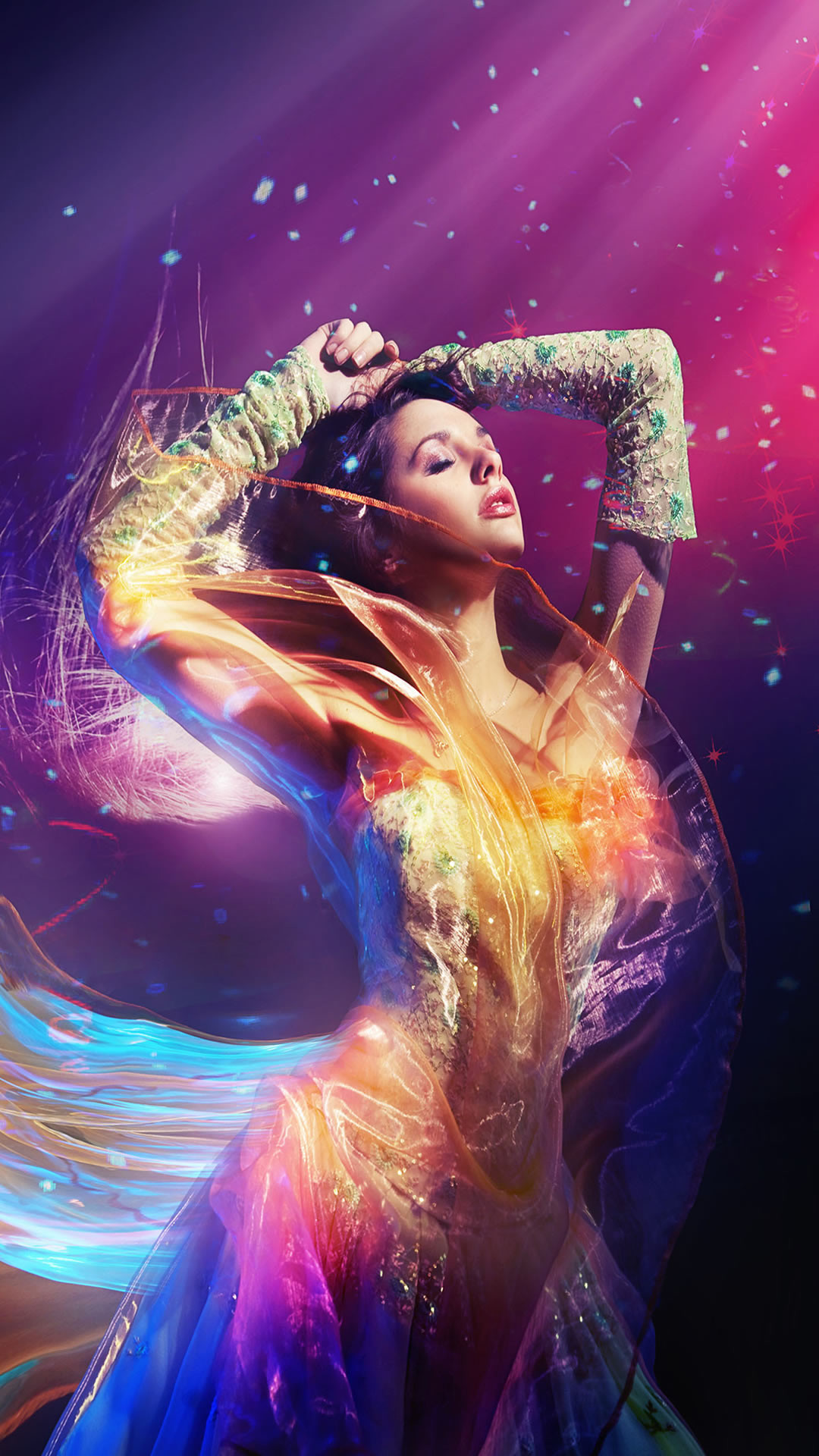 Color Fantasy Girl #iPhone #7 #wallpaper