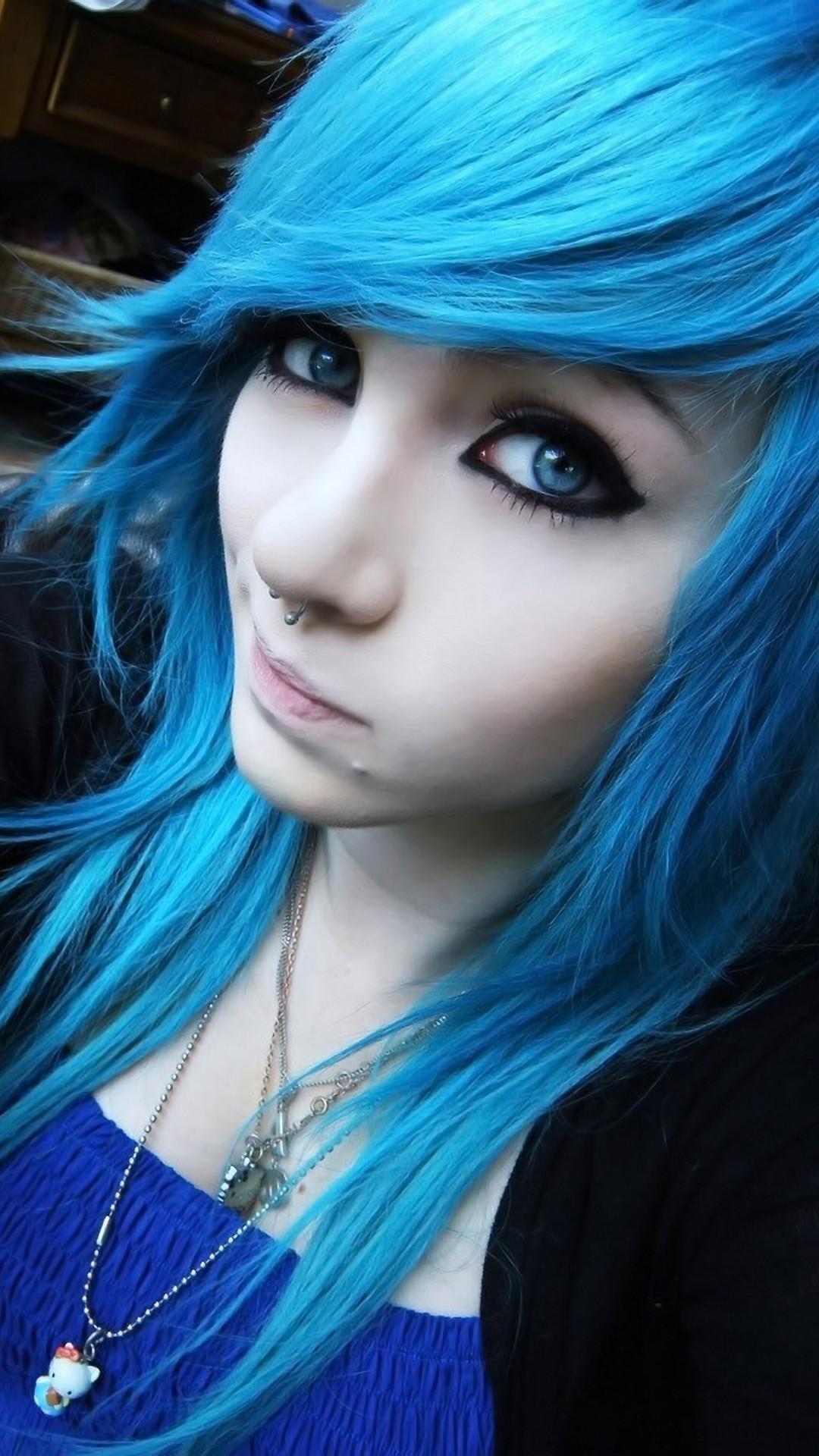 Girl iphone wallpaper amber mccrackin girl blue hair