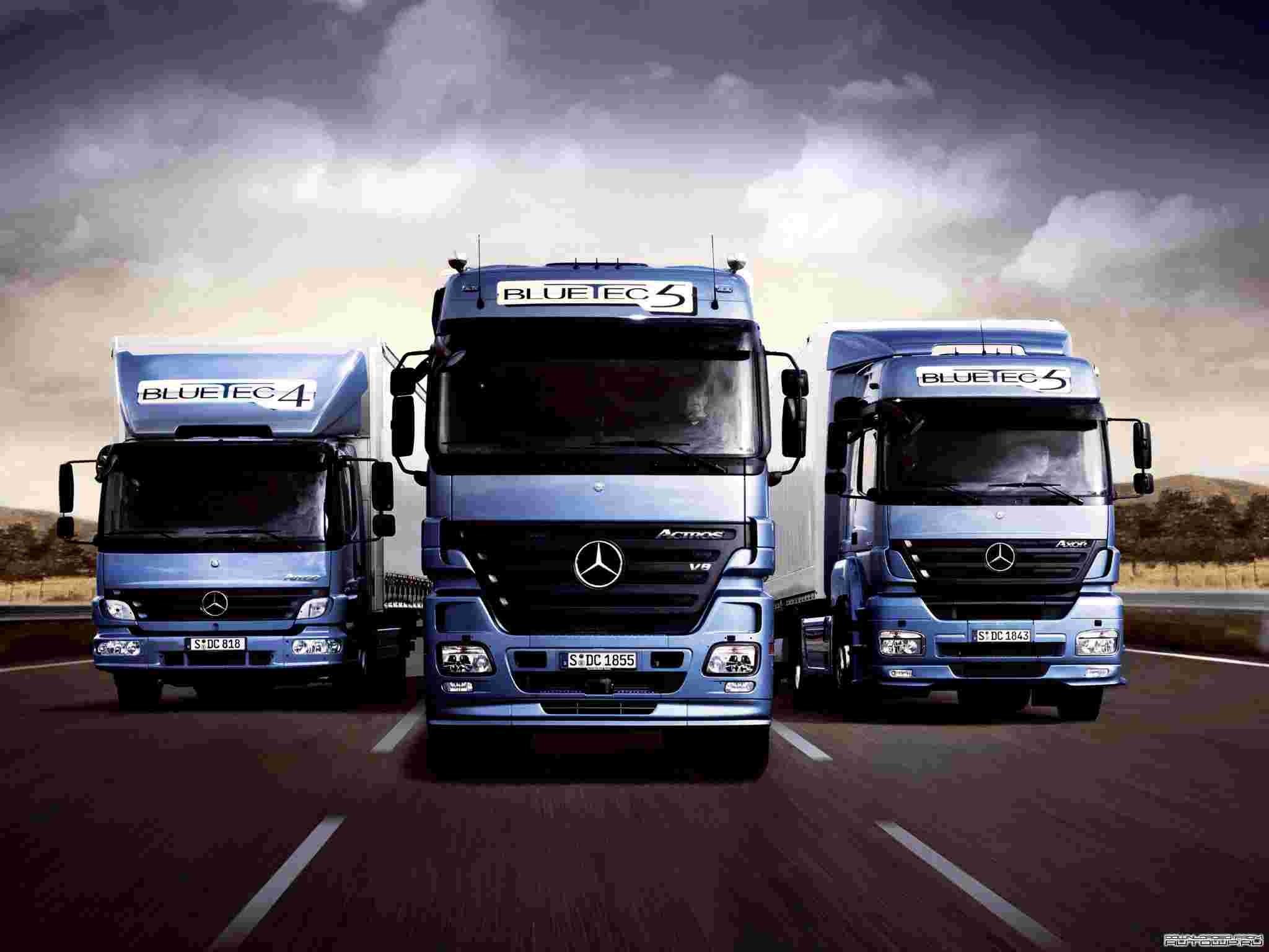 Another Wallpaper of Mercedes-Benz Truck
