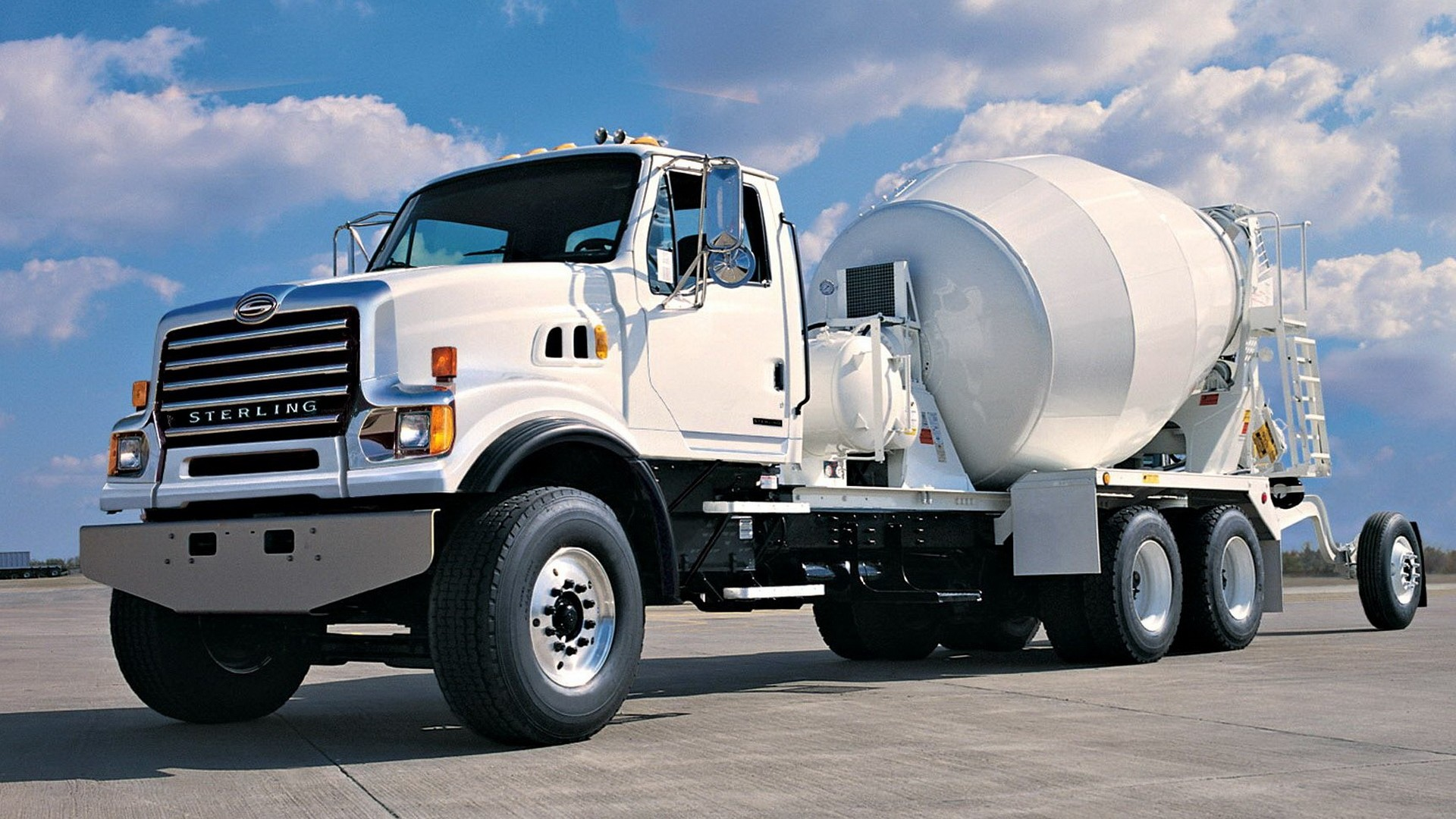 Concrete mixer truck:
