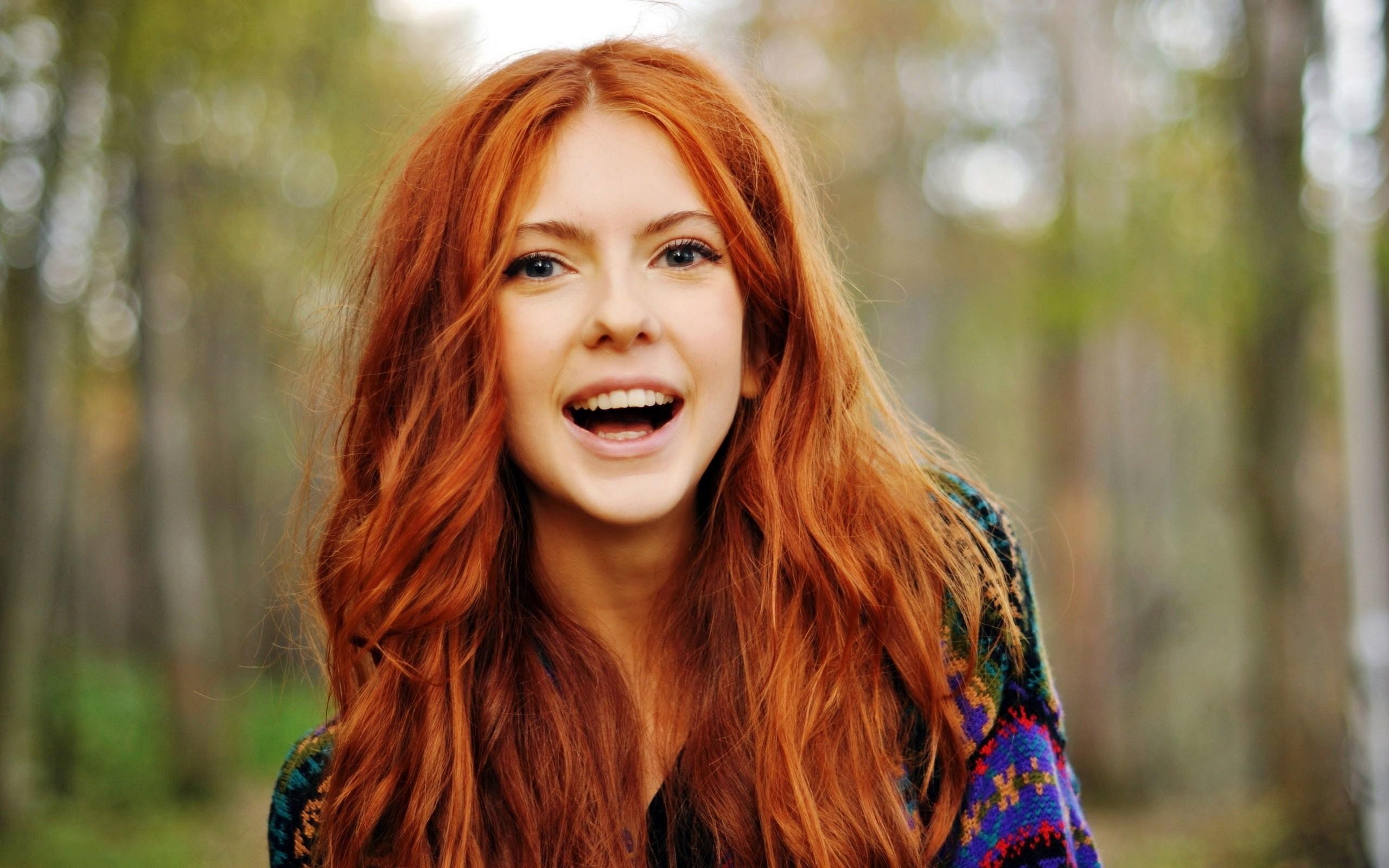 redhead girl laugh nice