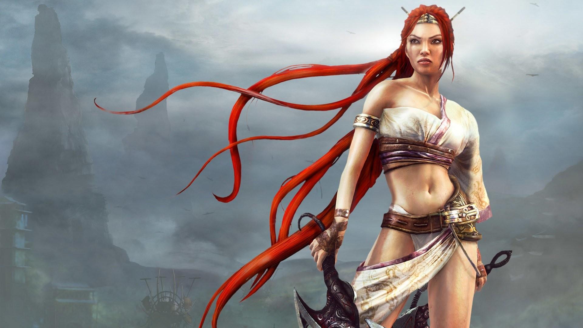 Video Game – Heavenly Sword Fantasy Woman Warrior Woman Girl Redhead  Wallpaper
