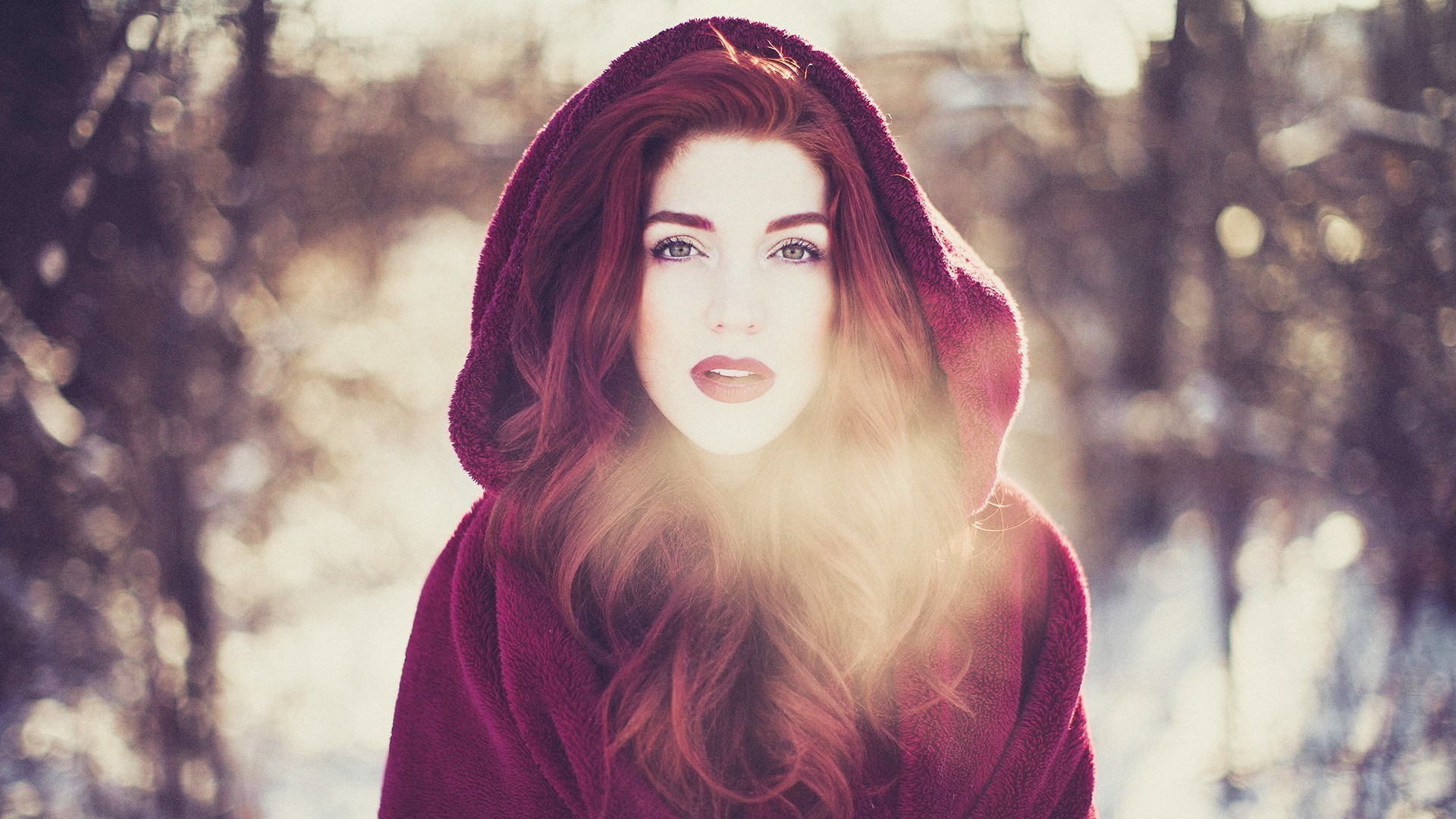 women, Redhead, Little Red Riding Hood, Cold Wallpapers HD / Desktop and  Mobile Backgrounds