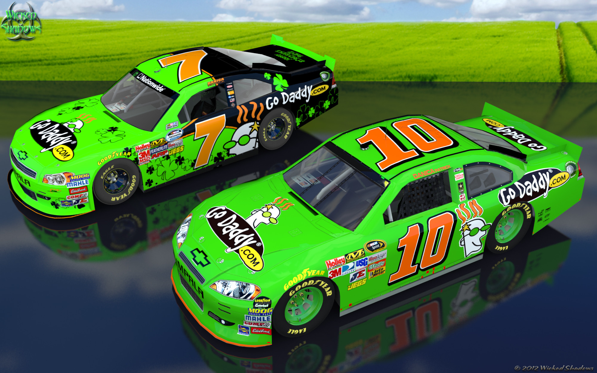 Wallpapers By Wicked Shadows: Danica Patrick 2012 double .