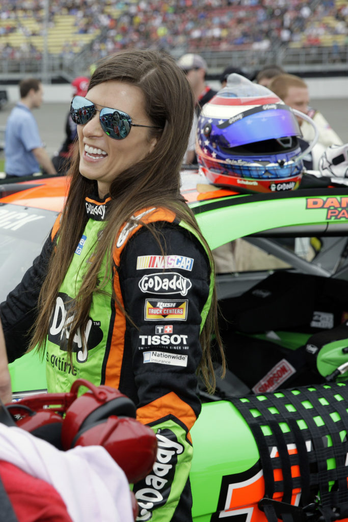 Danica Patrick is all smiles before the Pure Michigan 400 at Michigan  International Speedway. View