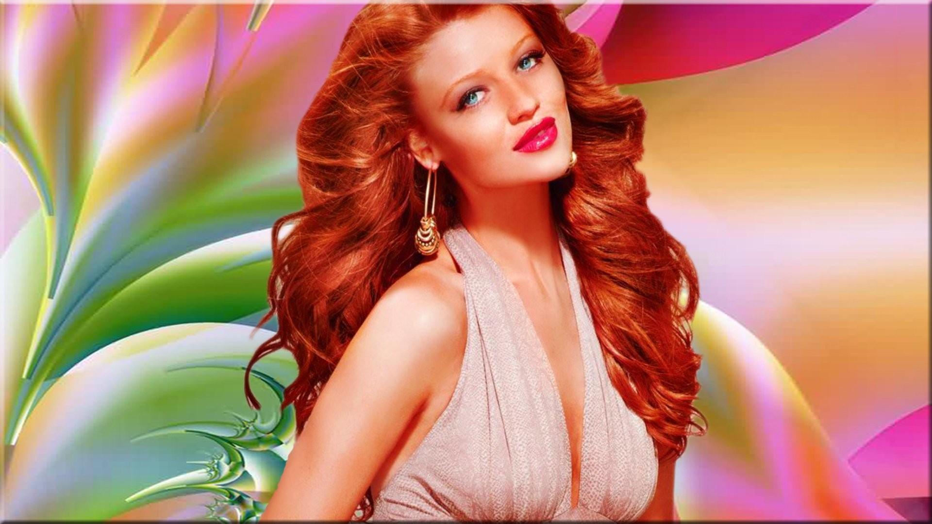 Women – Cintia Dicker Redhead Woman Wallpaper