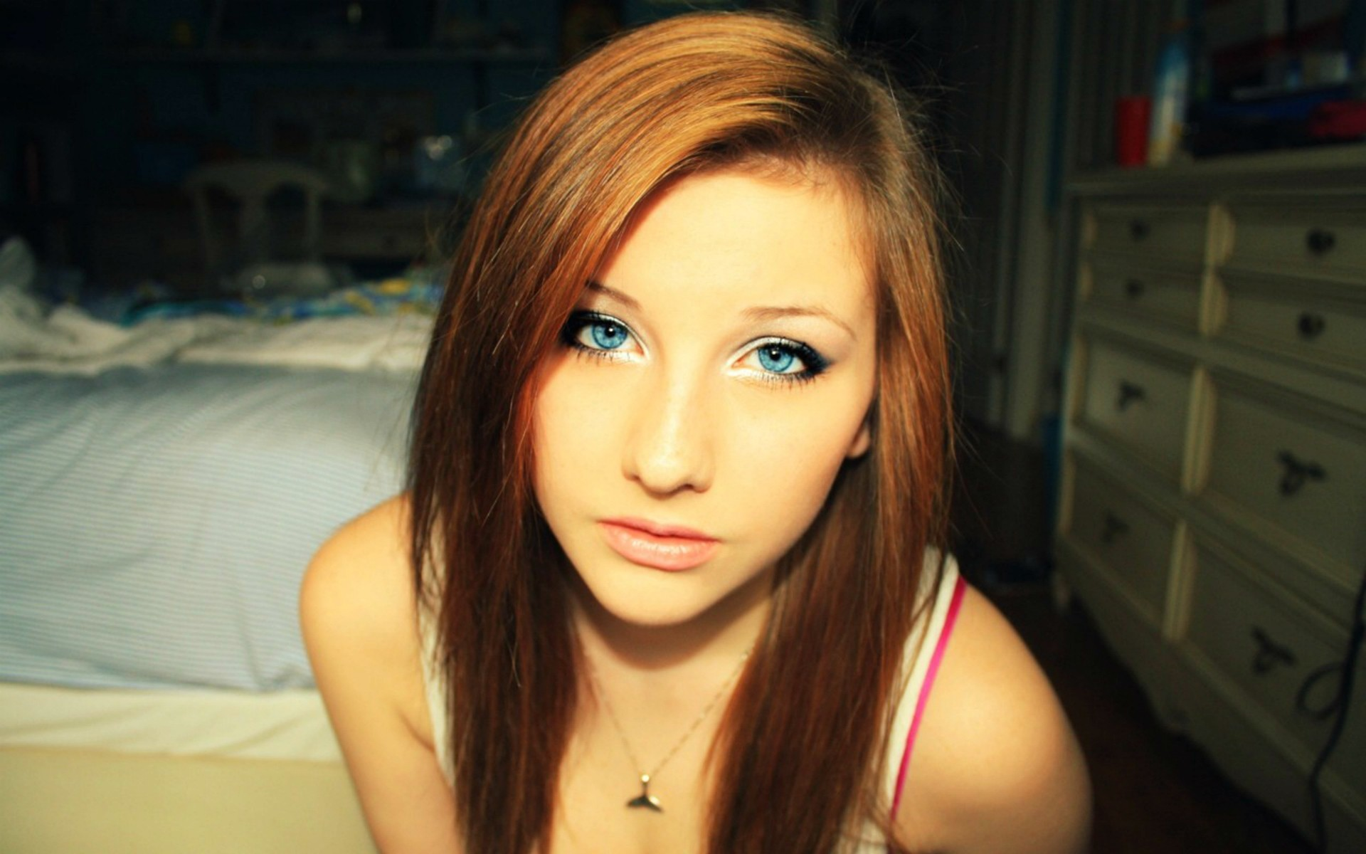 Green Eyes Redhead wallpapers and stock photos