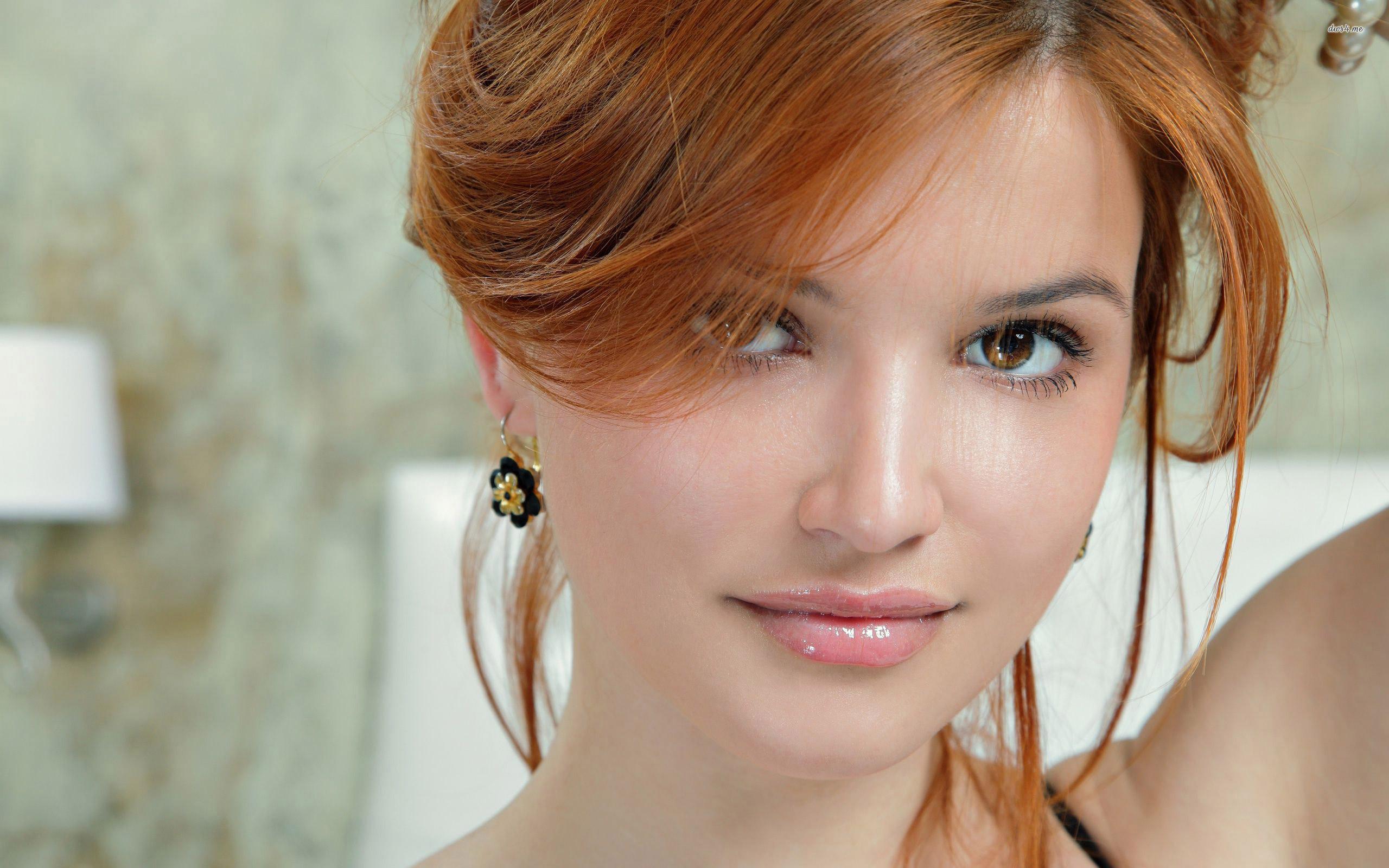 Beautiful Eyes Girl HD desktop wallpaper, Redhead wallpaper – Girls no.