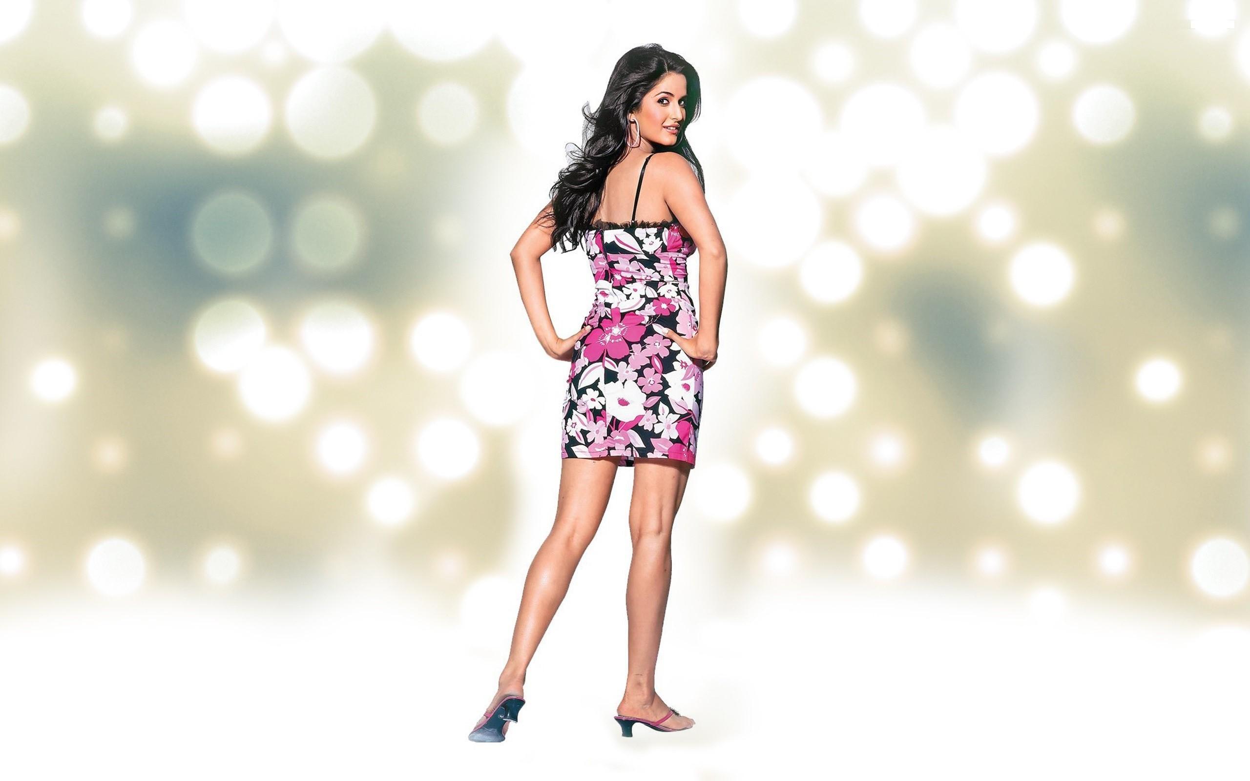 Actress Katrina Kaif Stylist Standing and Looking Back Pose HD Wallpaper