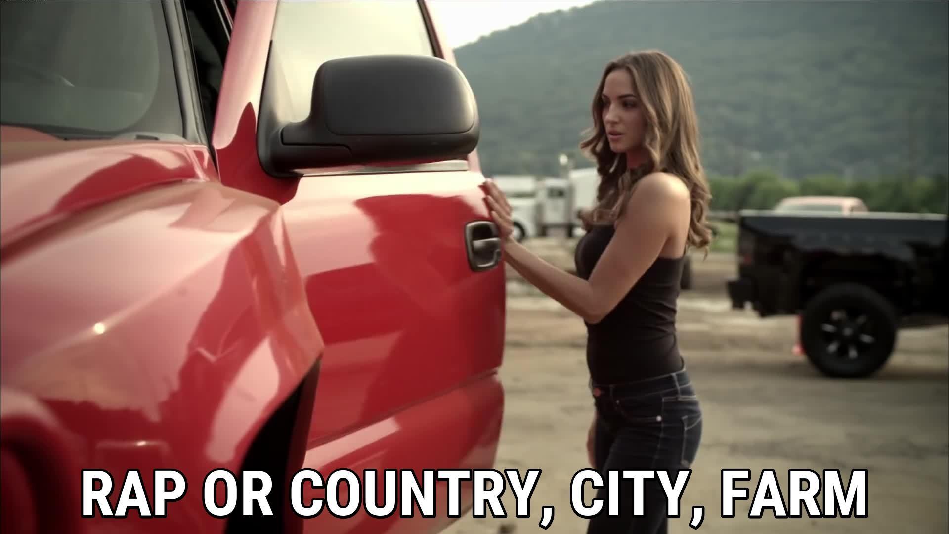 Rap or country, city, farm