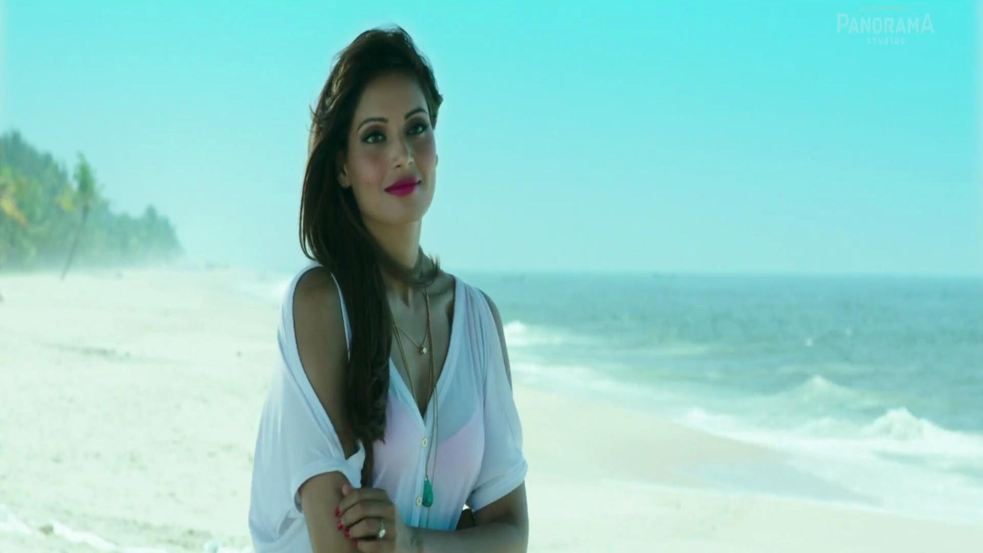 Popular Indian Female Celebrity Bipasha Basu at Beach and Wear White Top  Scene of Movie Alone HD Photo