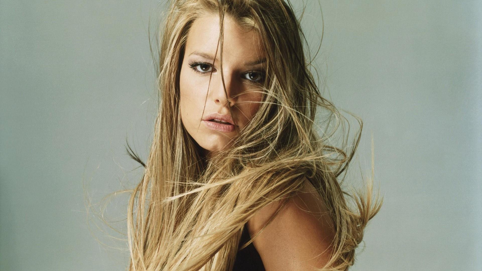 Wallpaper Jessica simpson, Blonde, Hair, Shoulder, Look HD, Picture, Image