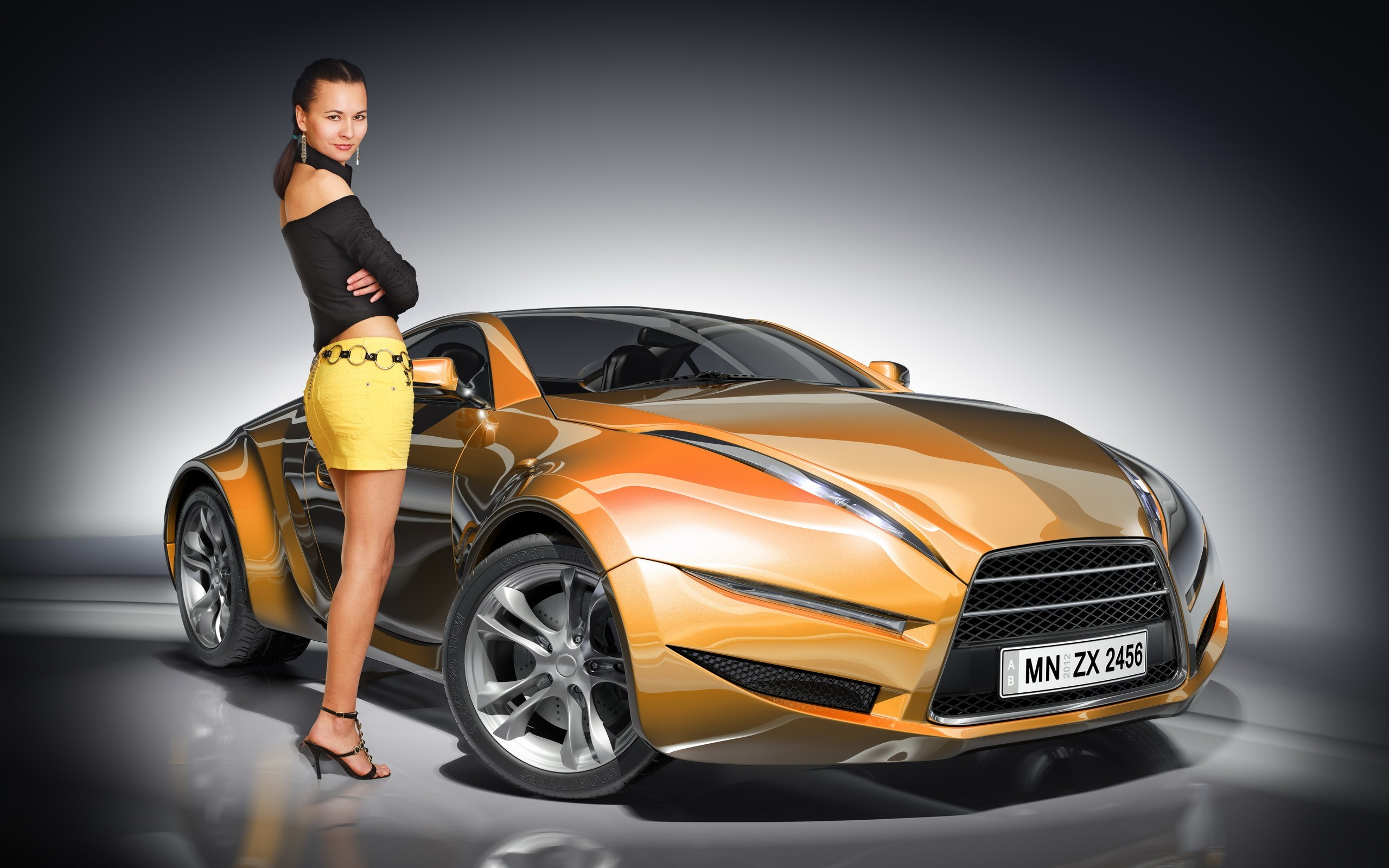 Car And Girls Wallpapers Nice Collection