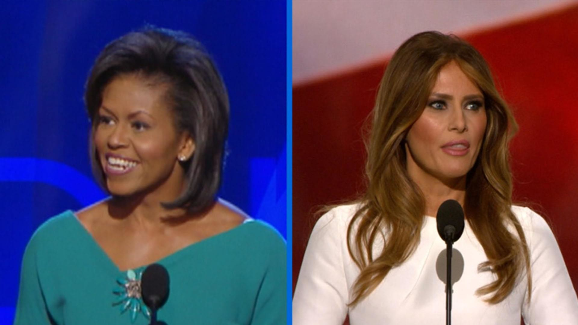 Michelle Obama and Melania Trump lines: similarities side by side – NBC News