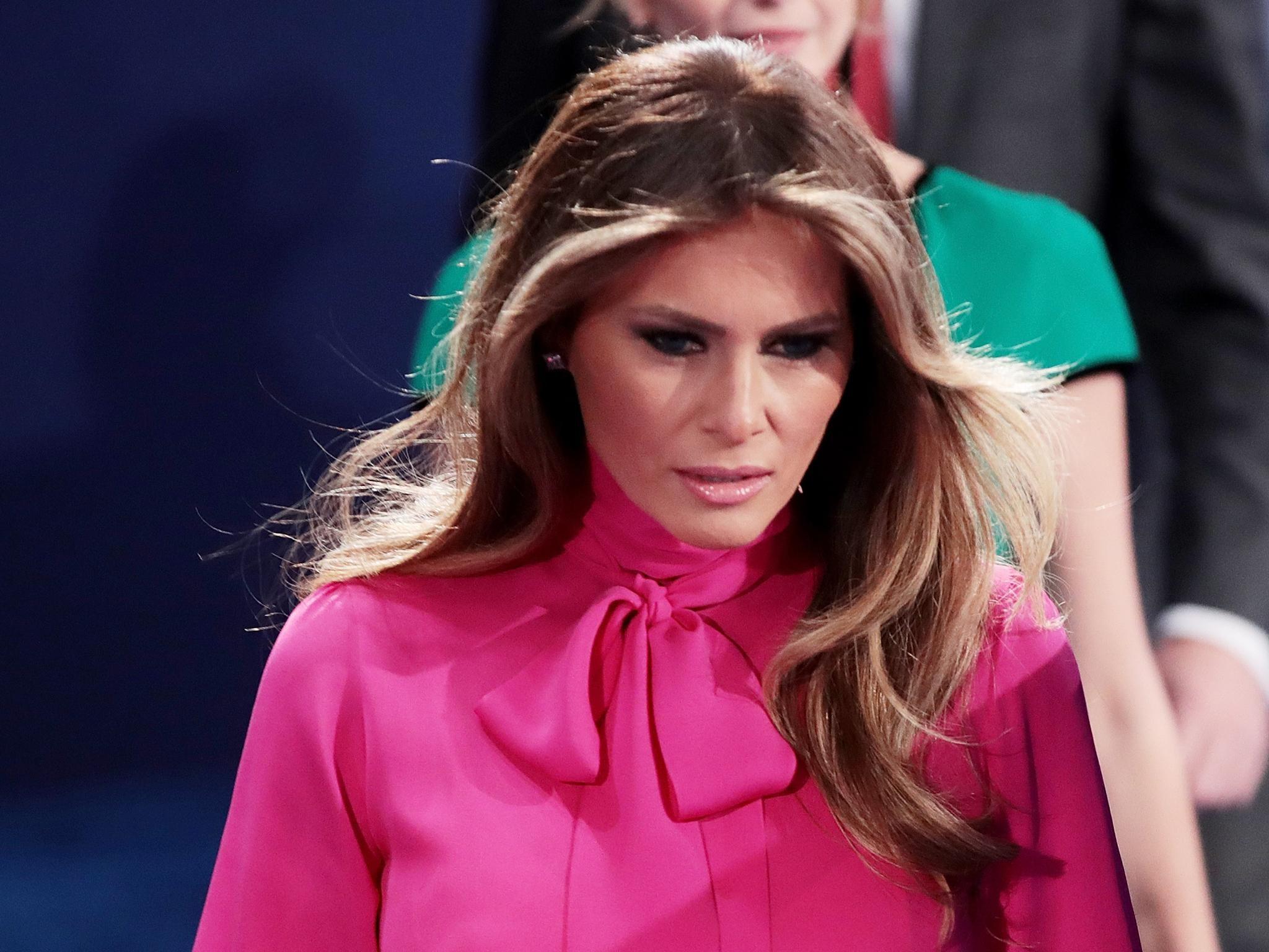 Melania Trump dismisses husband's sex assault comments as 'boys talk'