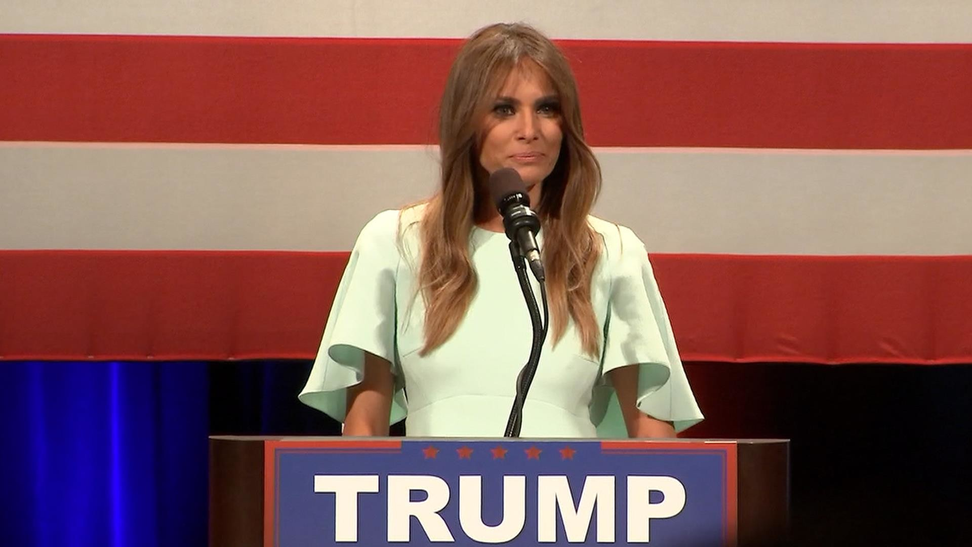 Melania Stumps for Donald Trump: 'He Will Punch Back 10 Times Harder' – NBC  News