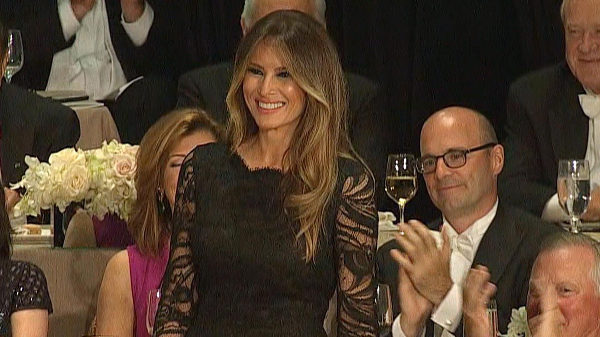 Trump Jokes About Melania's 'Exact Same' Speech as Michelle Obama – NBC News