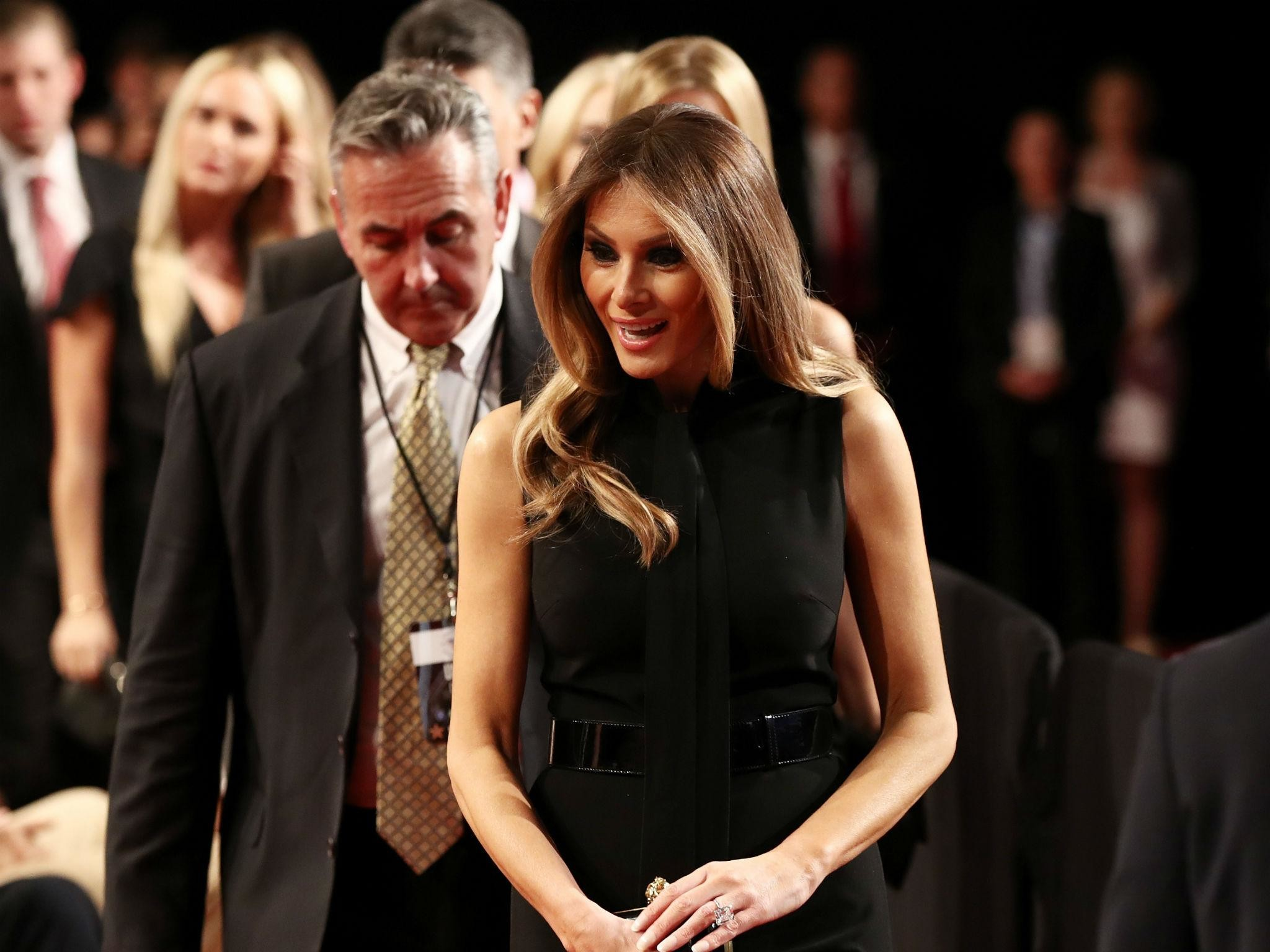 Donald Trump informs his wife Melania live on air that she will be doing  'two or three' more important speeches   The Independent
