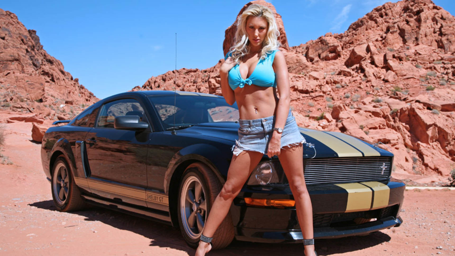 HOT girls and mustangs | Hot girl with hot ford mustang wallpaper