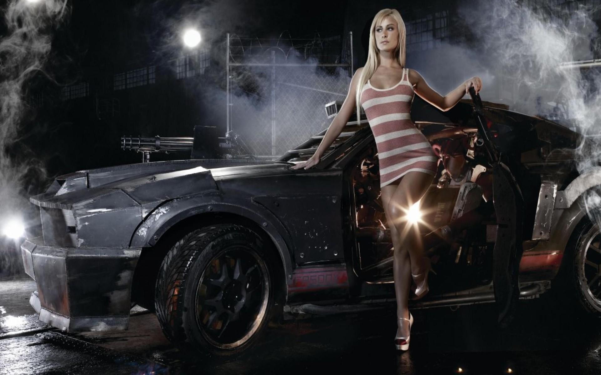 Girl car hd wallpaper