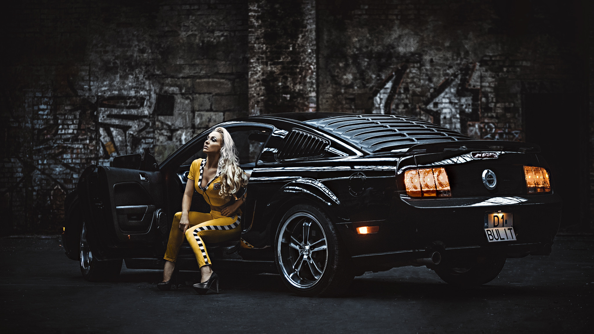 Ford mustang, ford, mustang, girl, blonde wallpapers (photos, pictures. ‹