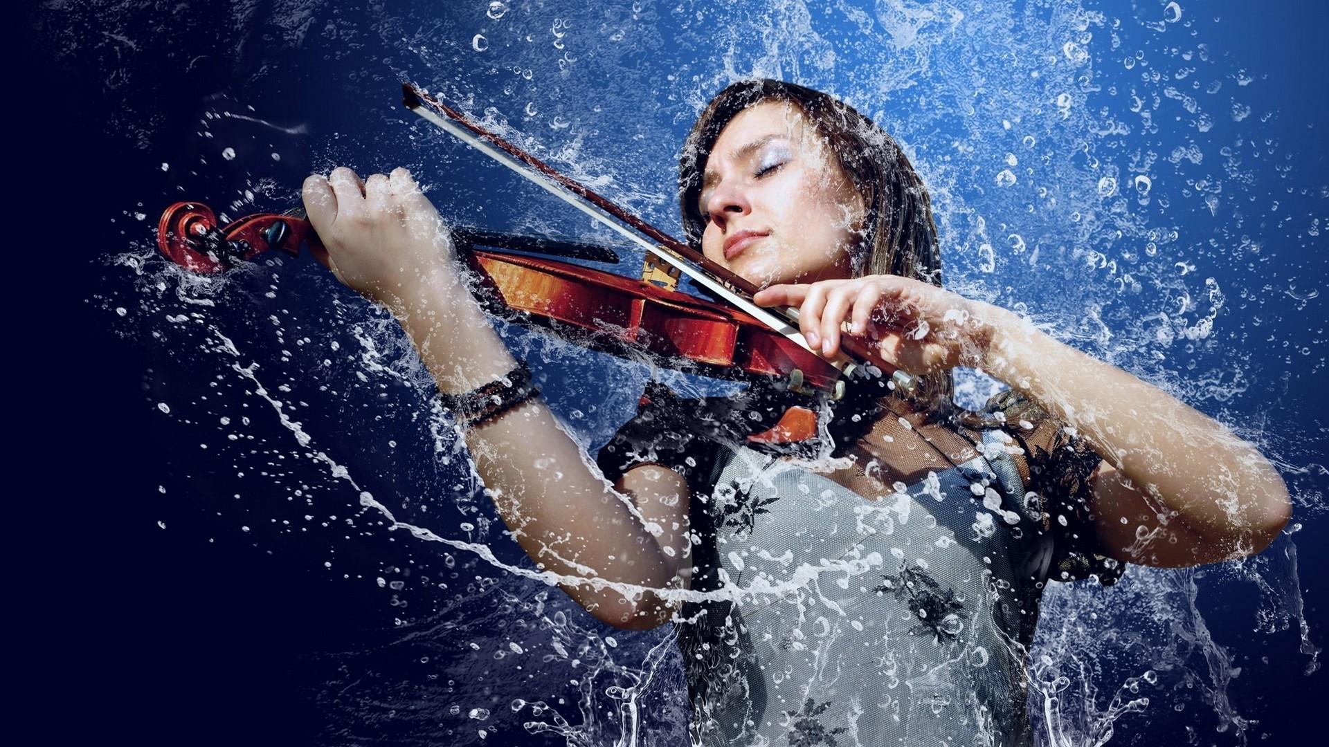 water, music, woman, violin HD Wallpaper Desktop Background | GIRL & VIOLIN  | Pinterest