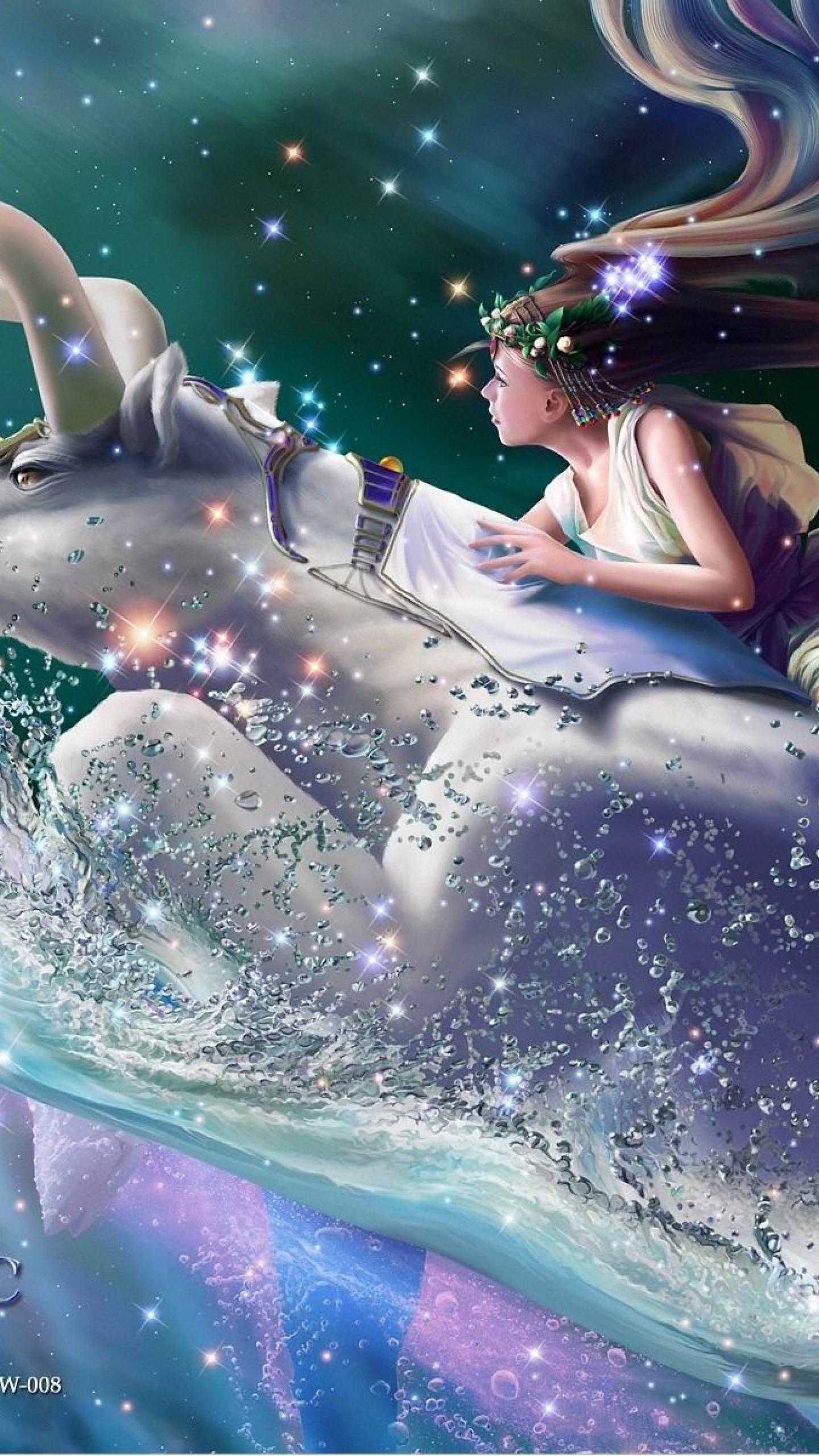 Wallpaper zodiac, signs, little bodies, water, girl