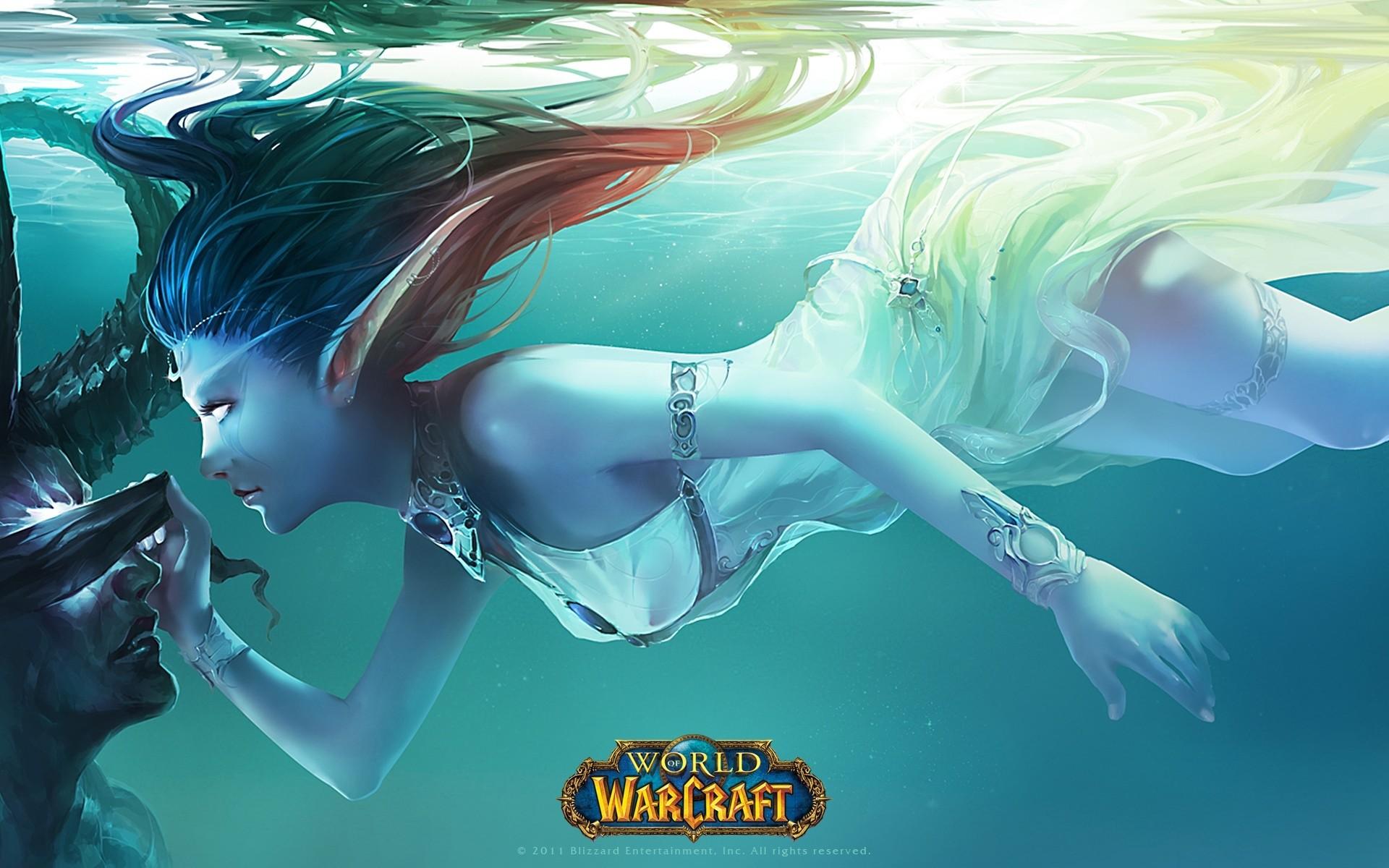 Wallpaper World of warcraft, Fan art, Elf, Girl, Water