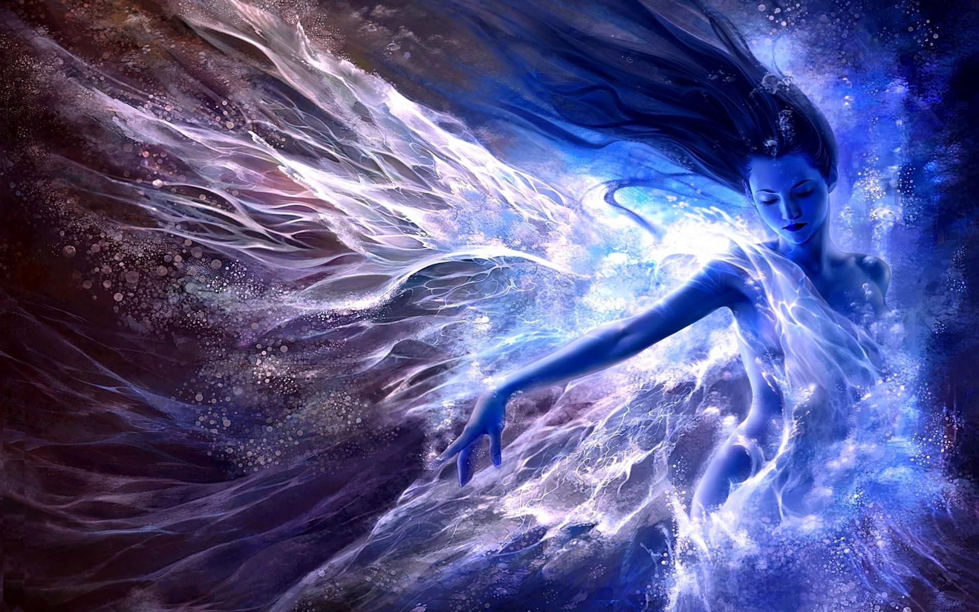 Image – Girl-Water-Blue-Fantasy-Art-Wallpaper.jpg | Elementalist' Prophecy  Wiki | FANDOM powered by Wikia