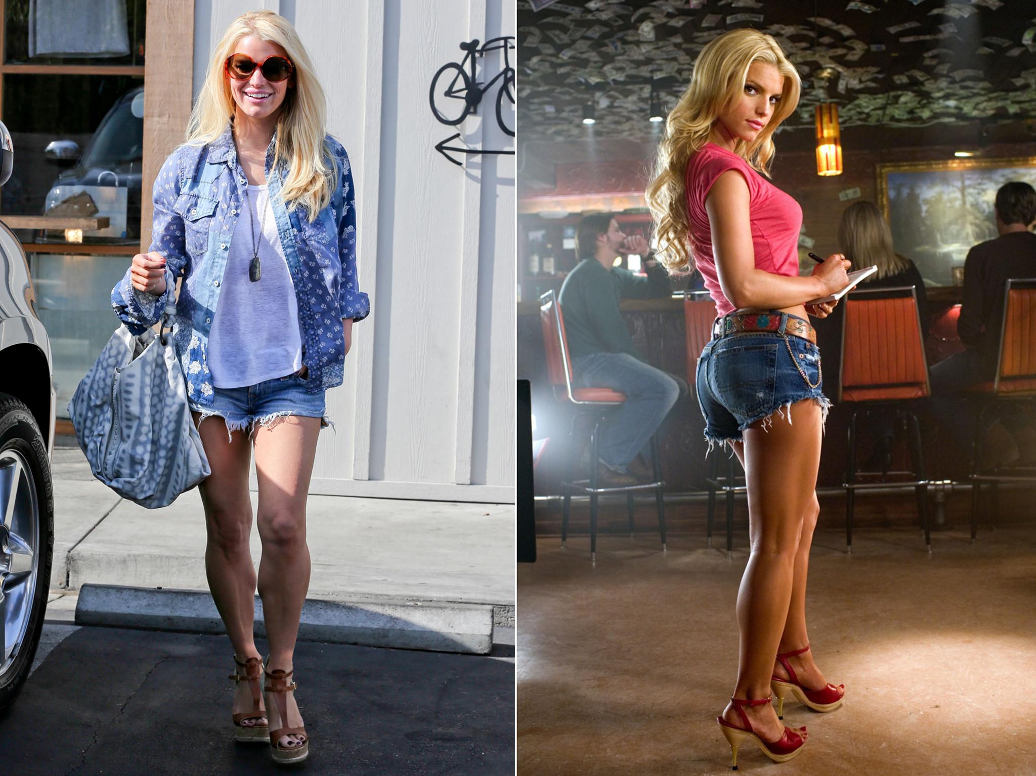 Jessica Simpson Daisy Duke Workout Secrets Revealed; New Mom Sizzles .