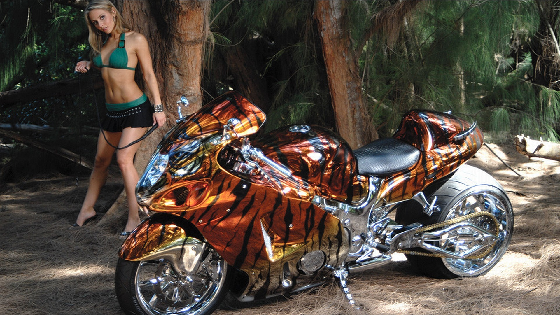 girls and motorcycles Wallpaper Background | 44646