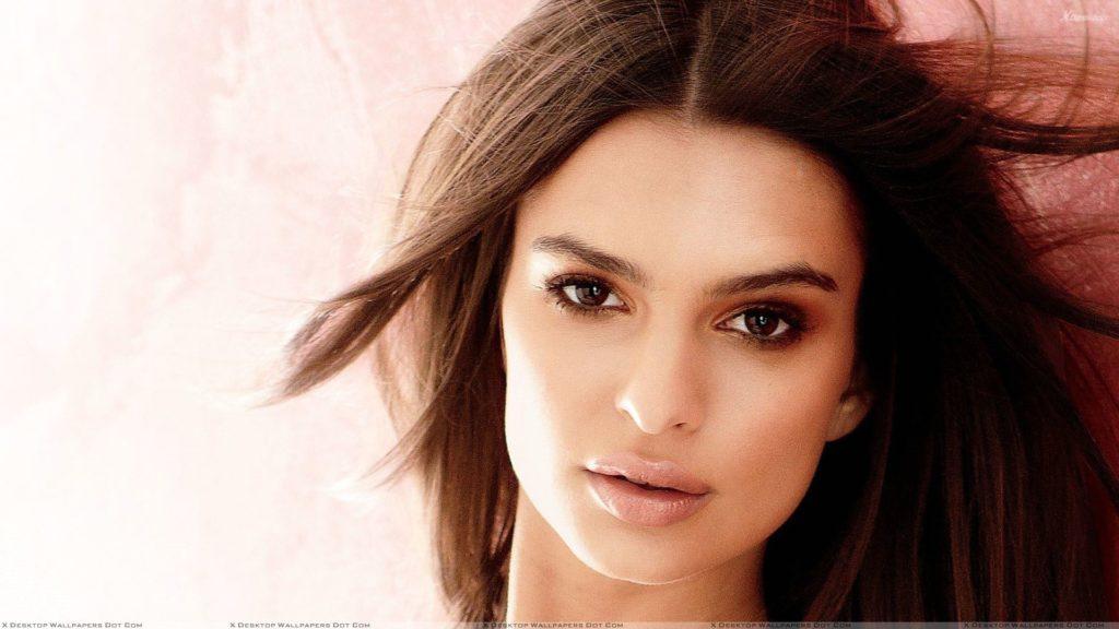 Face Closeup Of Emily Ratajkowski