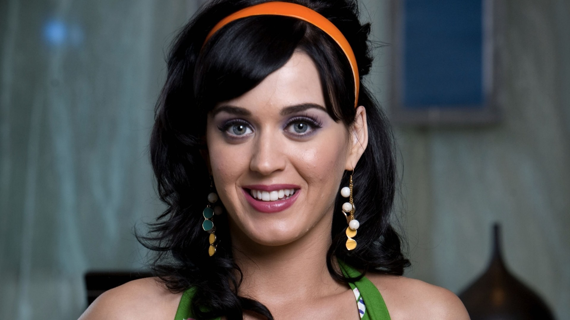 Wallpaper katy perry, smile, jewerly, make-up, haircut