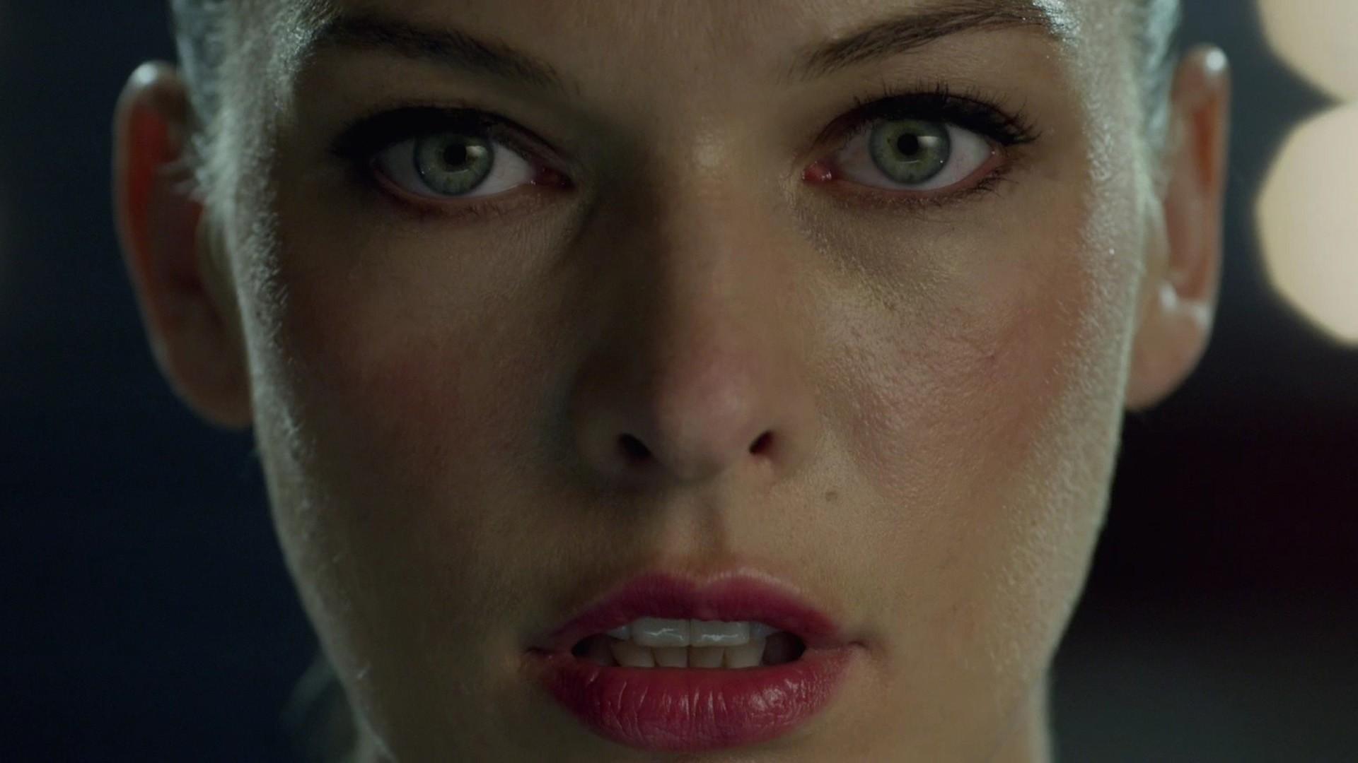 Preview wallpaper milla jovovich, actress, girl, lipstick 1920×1080