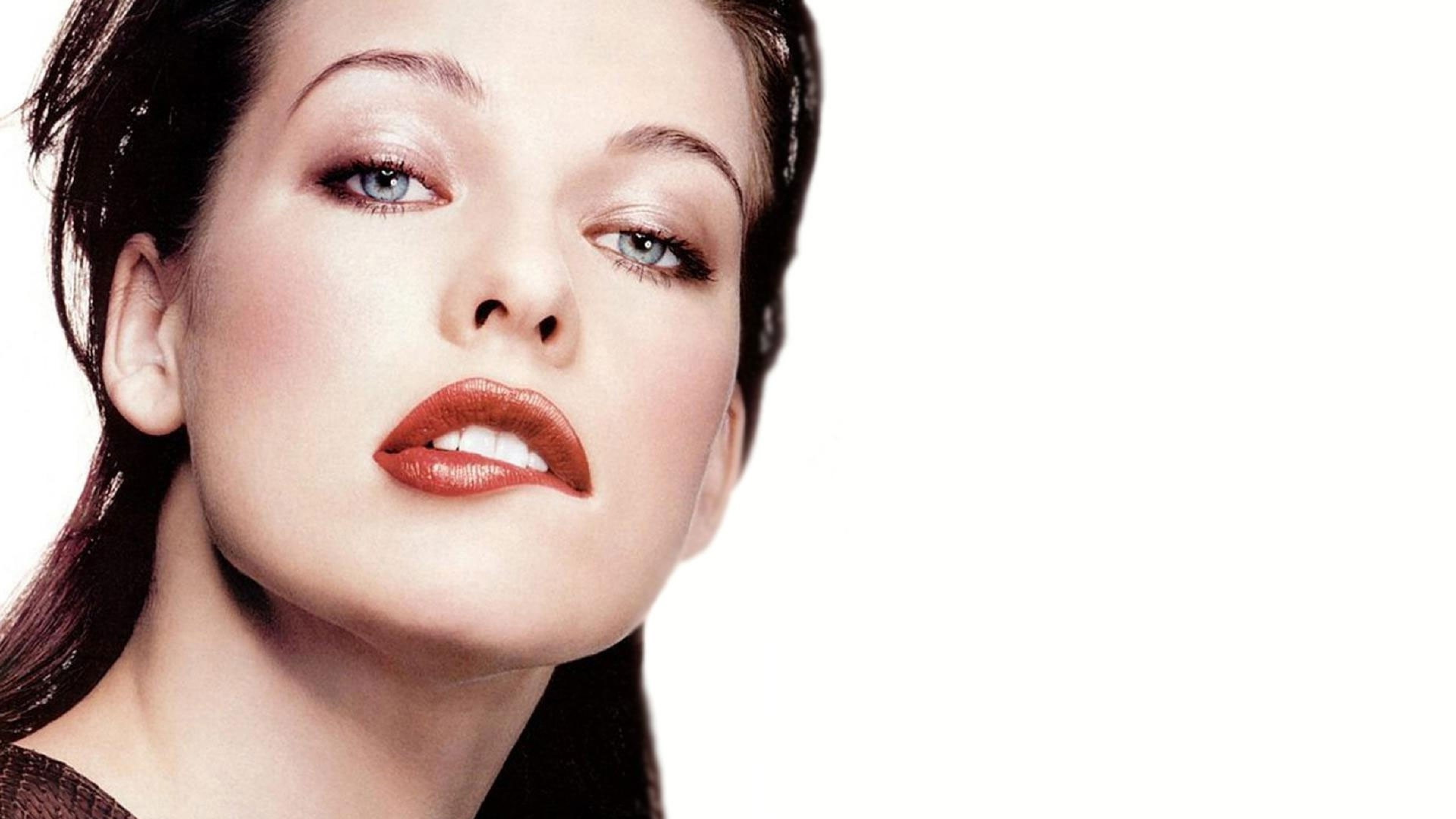 Preview wallpaper milla jovovich, actress, celebrity, makeup 3840×2160