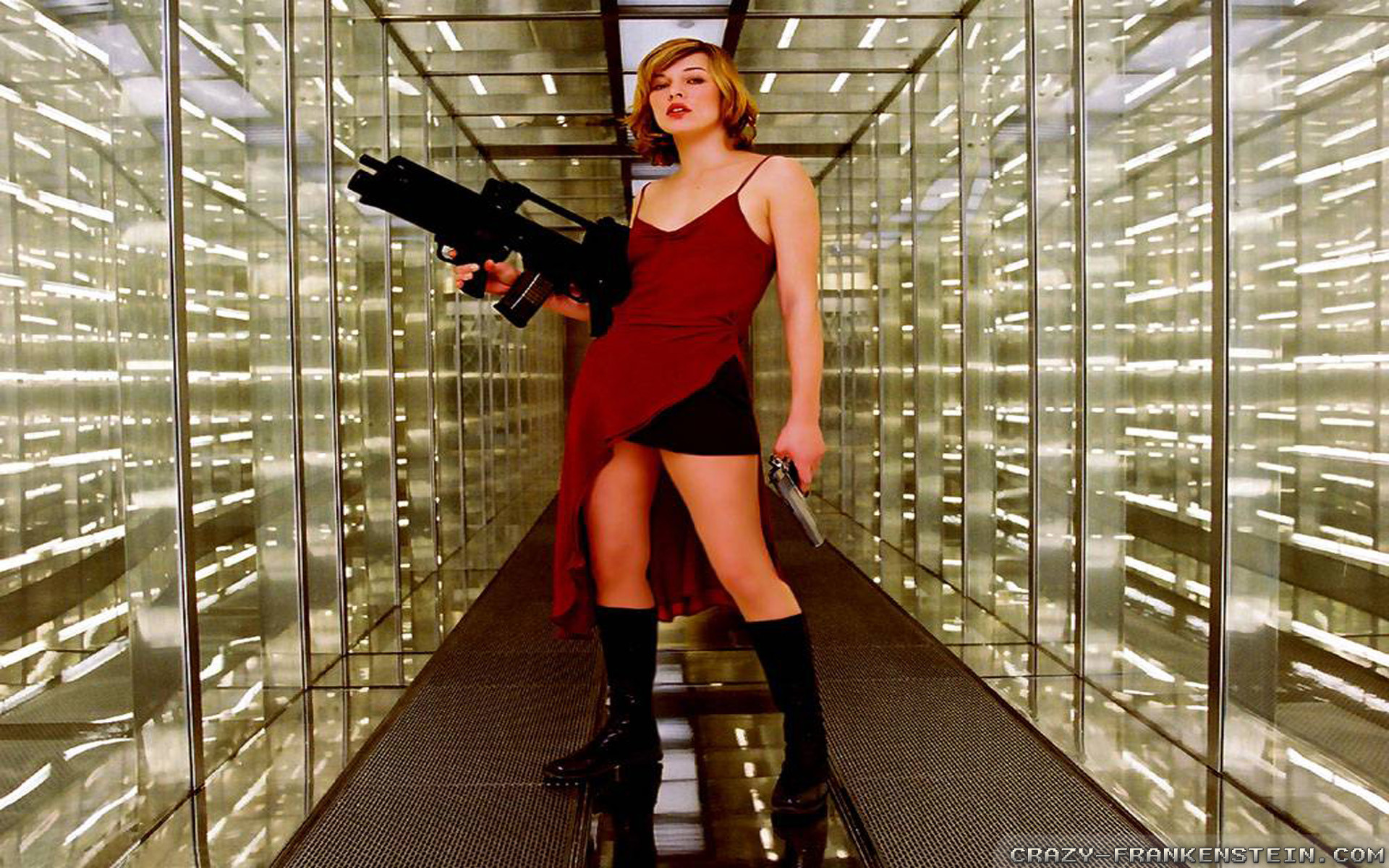 Wallpaper: Milla Jovovich making movie. Resolution: 1024×768 | 1280×1024 |  1600×1200. Widescreen Res: 1440×900 | 1680×1050 | 1920×1200