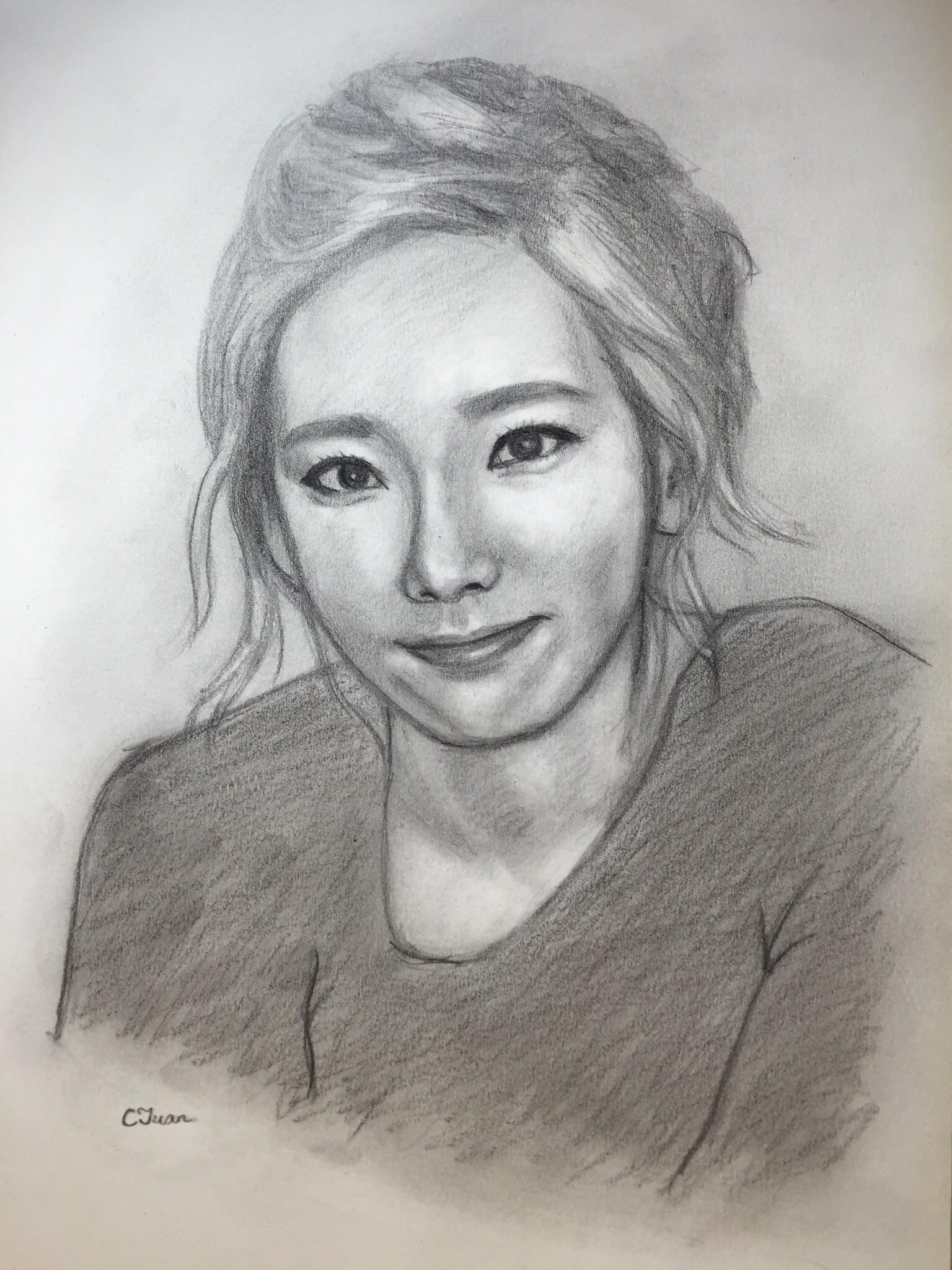 Sketching of taeyeon 太妍 snsd