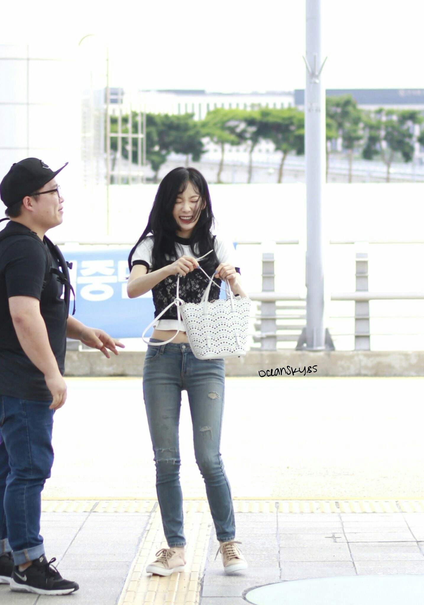 Taeyeon SNSD at the Airport to Jakarta (Countdown to Asian Games 2018)
