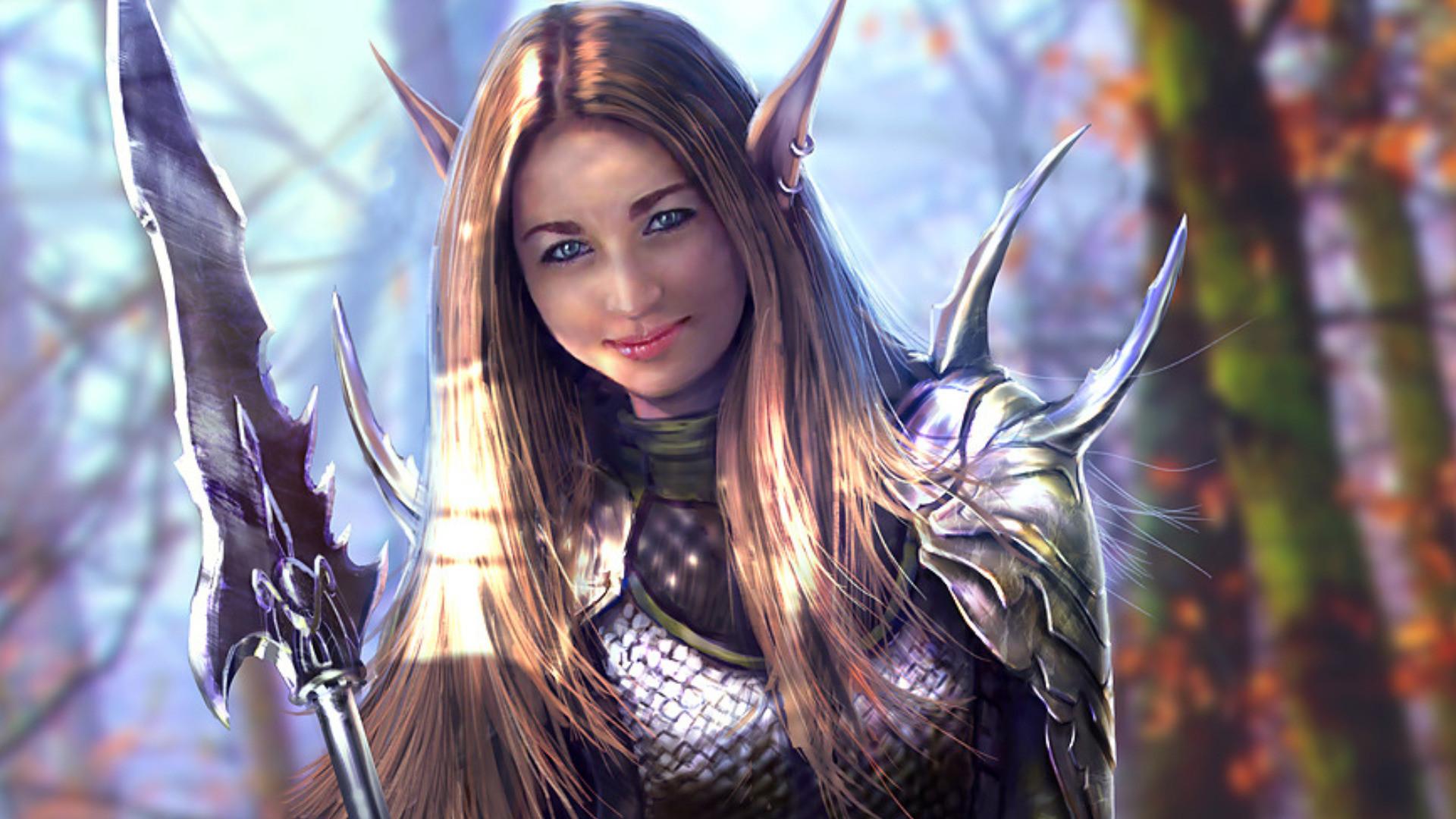 Wallpapers Women Warrior Fantasy X Id 1920×1080