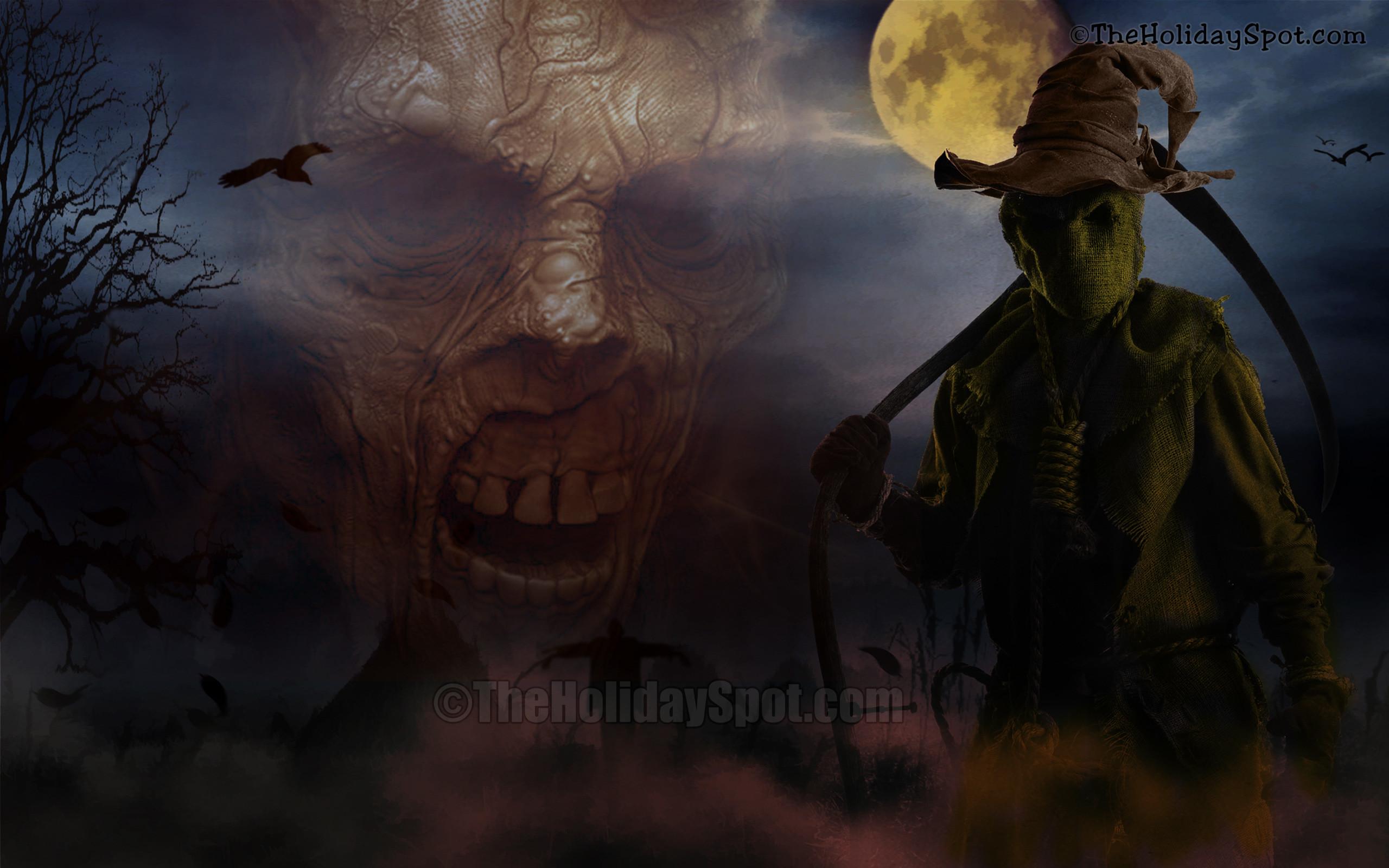 Wallpaper – Demons at Halloween Night