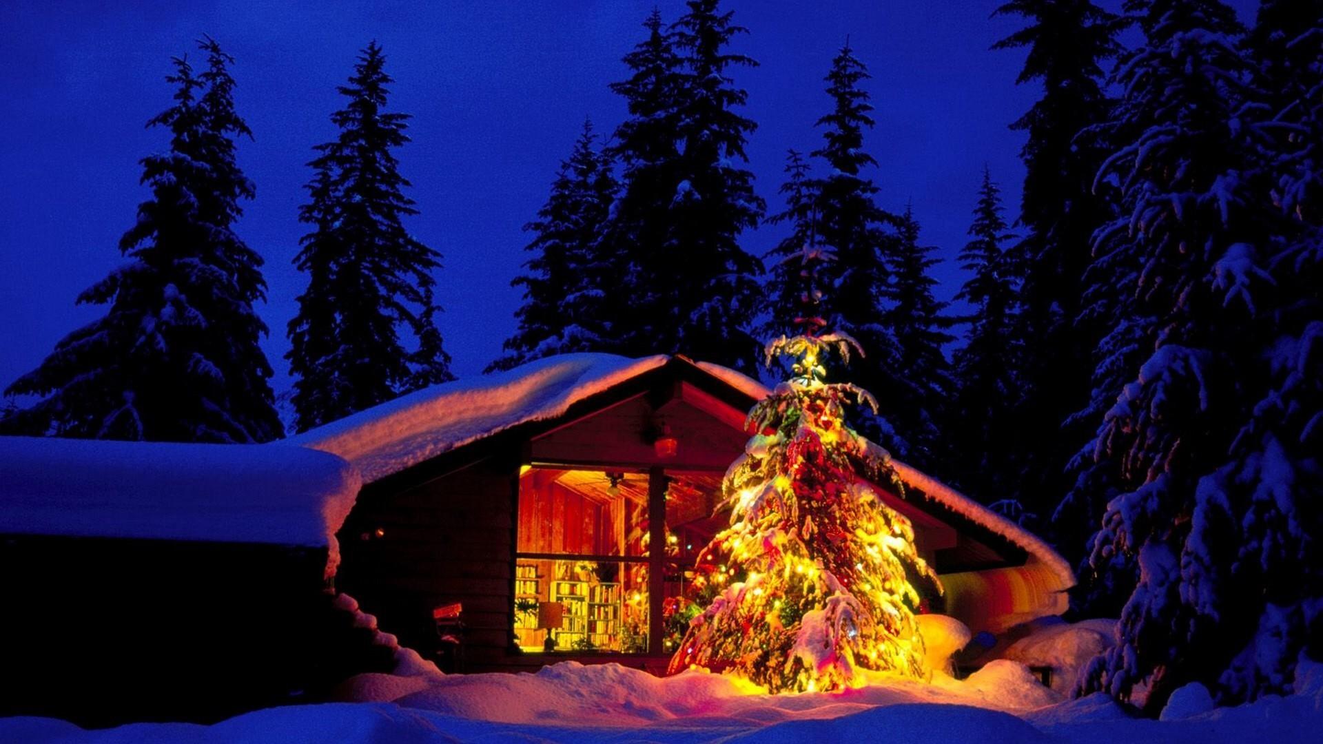 Christmas Night desktop PC and Mac wallpaper