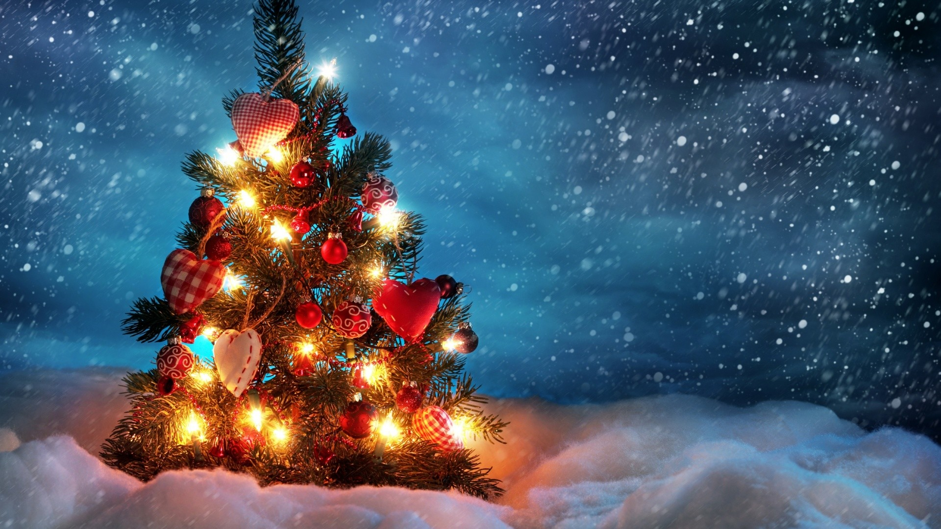 Christmas tree outside. How to set wallpaper on your desktop?  Click the download link from above and set the wallpaper on the desktop  from your …