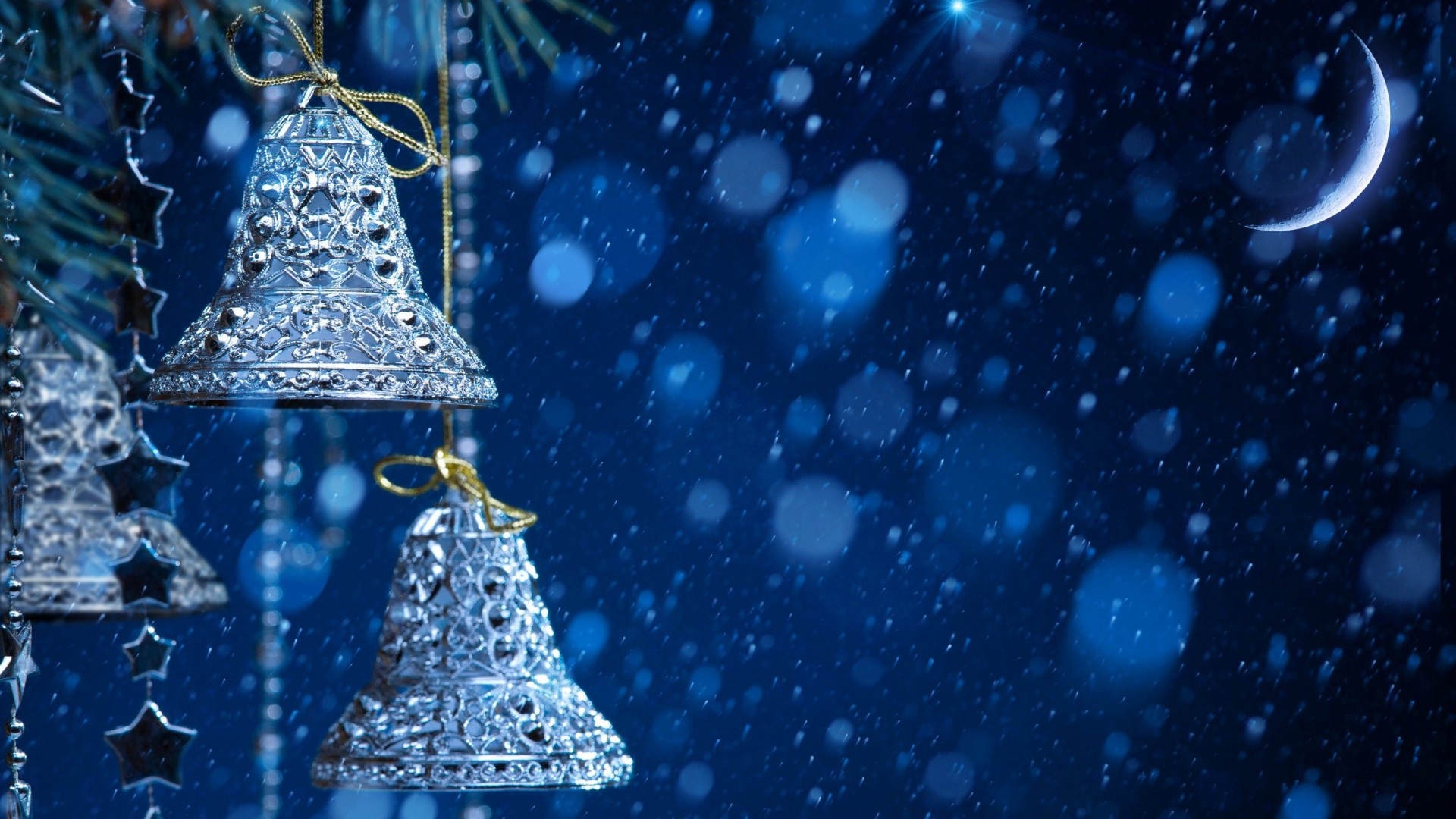 Silver Christmas Bells. How to set wallpaper on your desktop?  Click the download link from above and set the wallpaper on the desktop  from your …