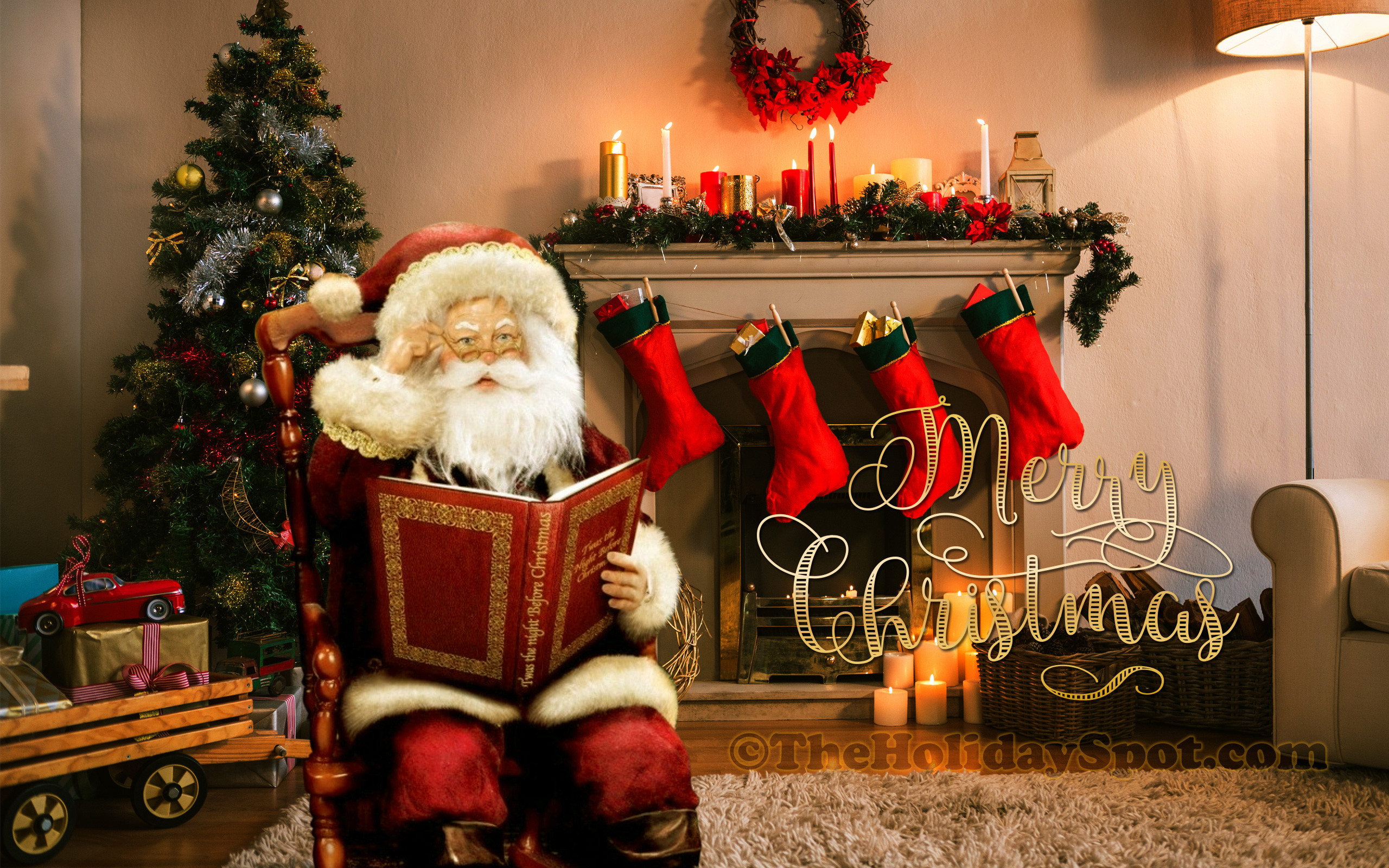 Wallpaper – Merry Christmas wishes from Santa