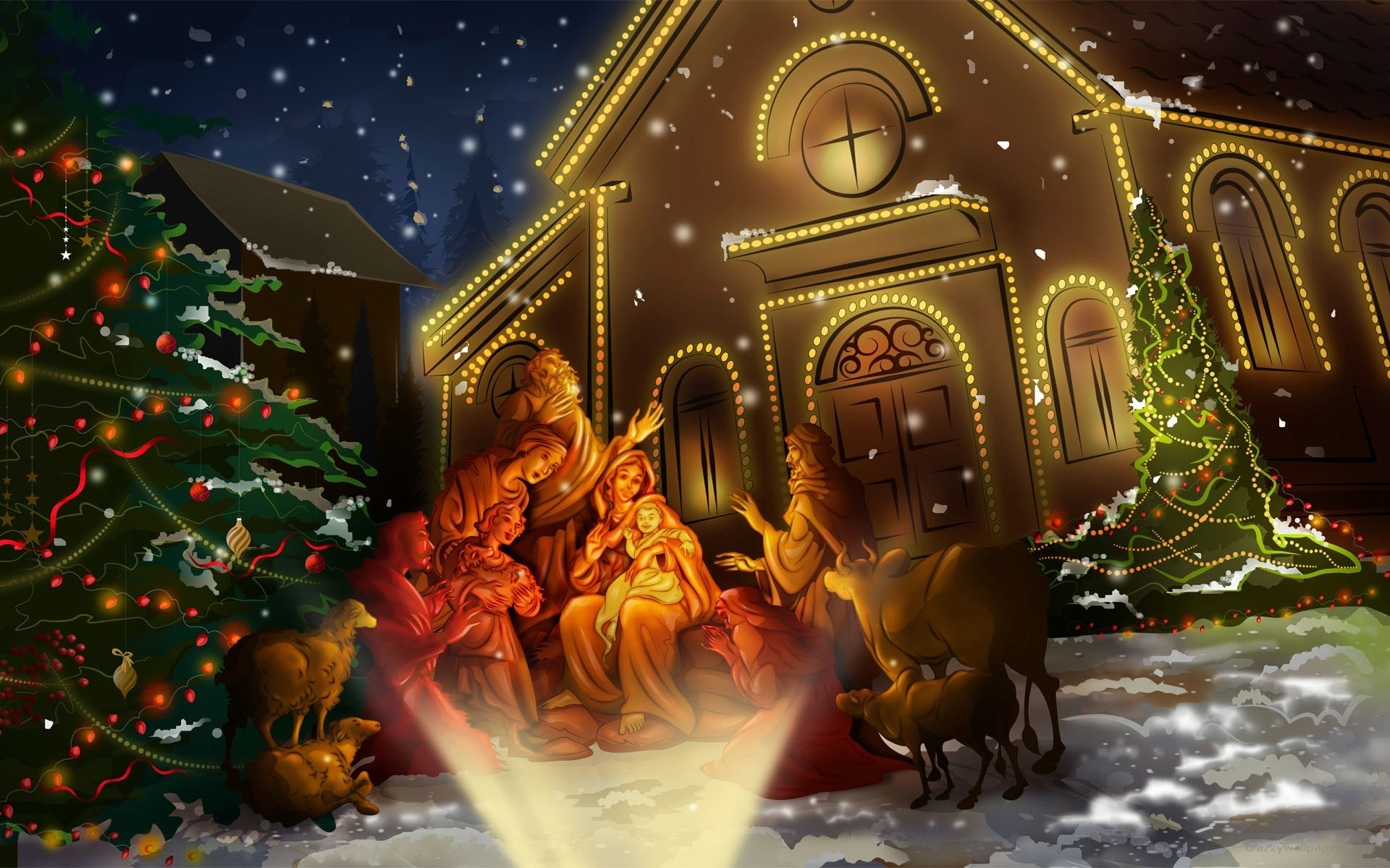 spirit of christmas festival with these beautiful christmas wallpapers .