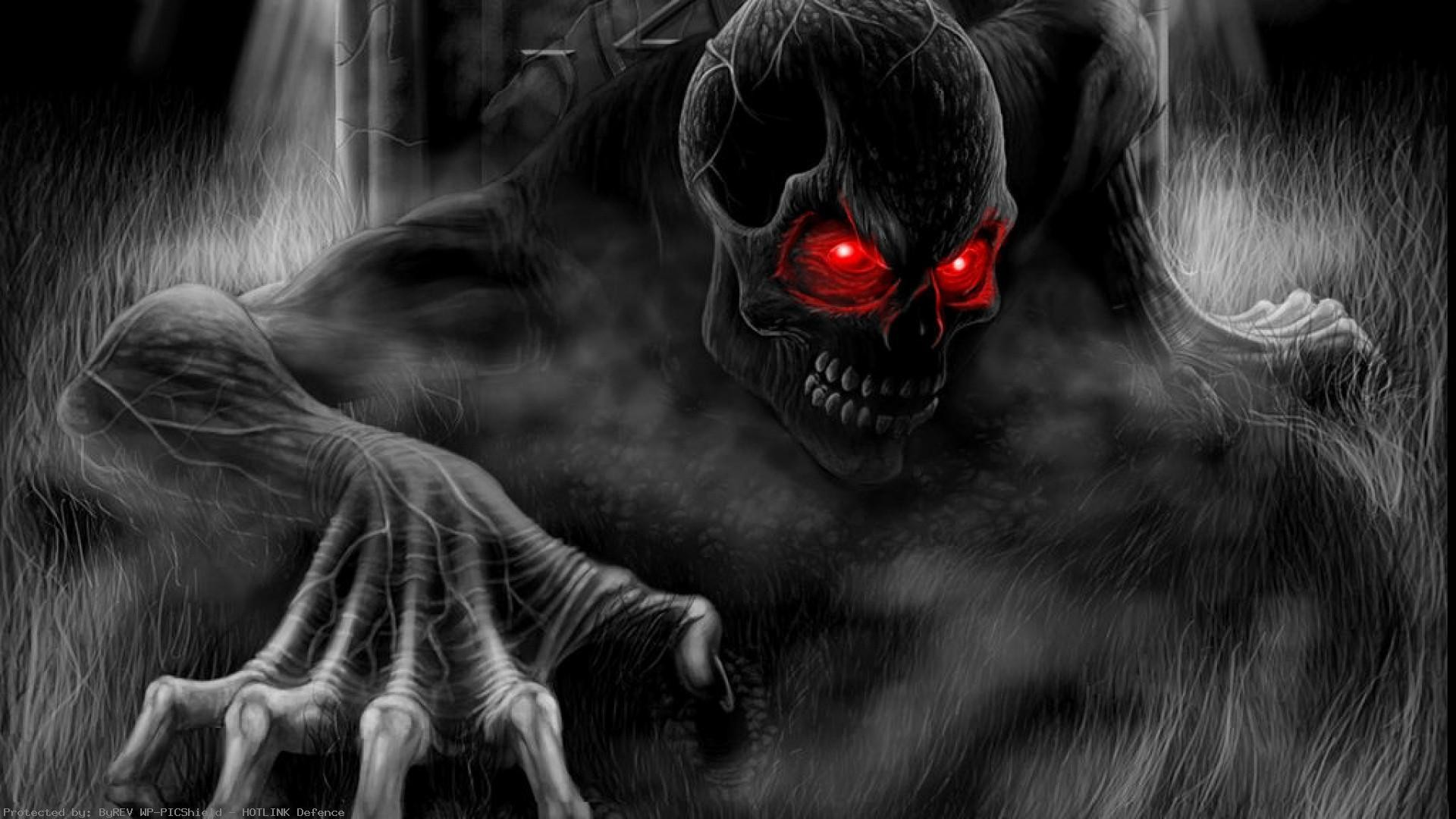 Scary-Halloween-Skull-Red-Eyes-HD-1920×1080-See-