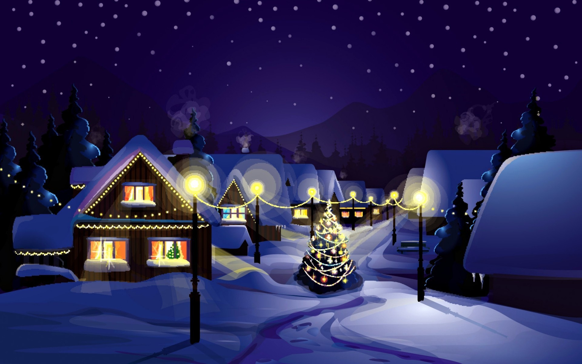 Animated Christmas Desktop Backgrounds.