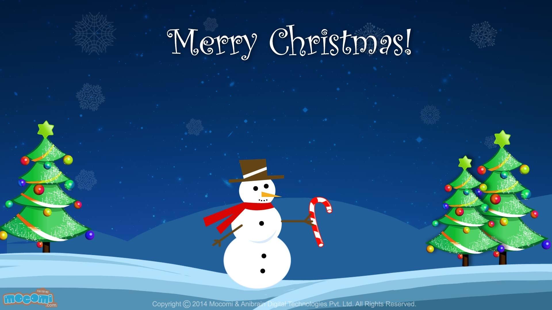 Christmas Snowman Wallpaper