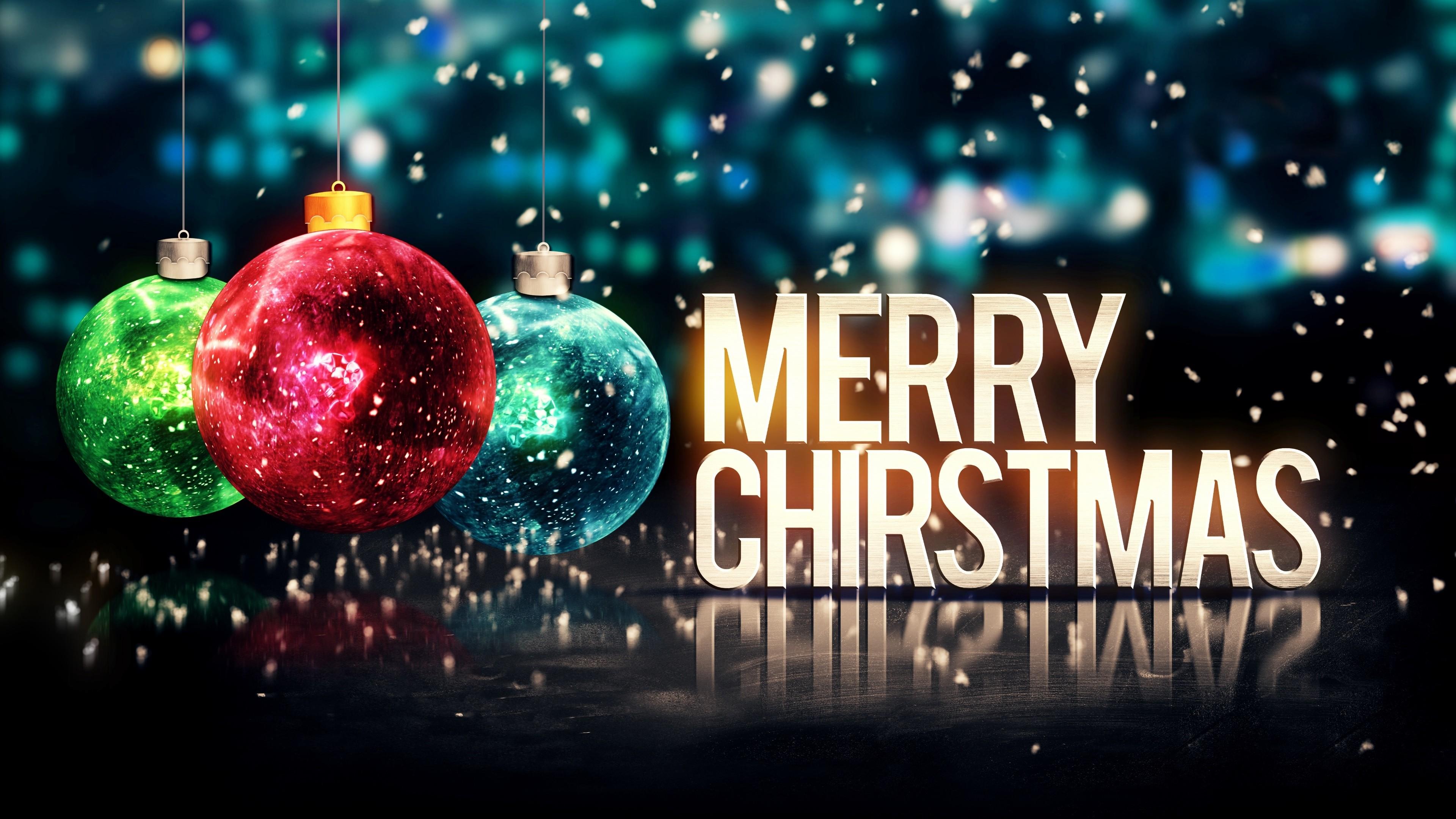 Merry Christmas 4K UHD Wallpaper 3840×2160